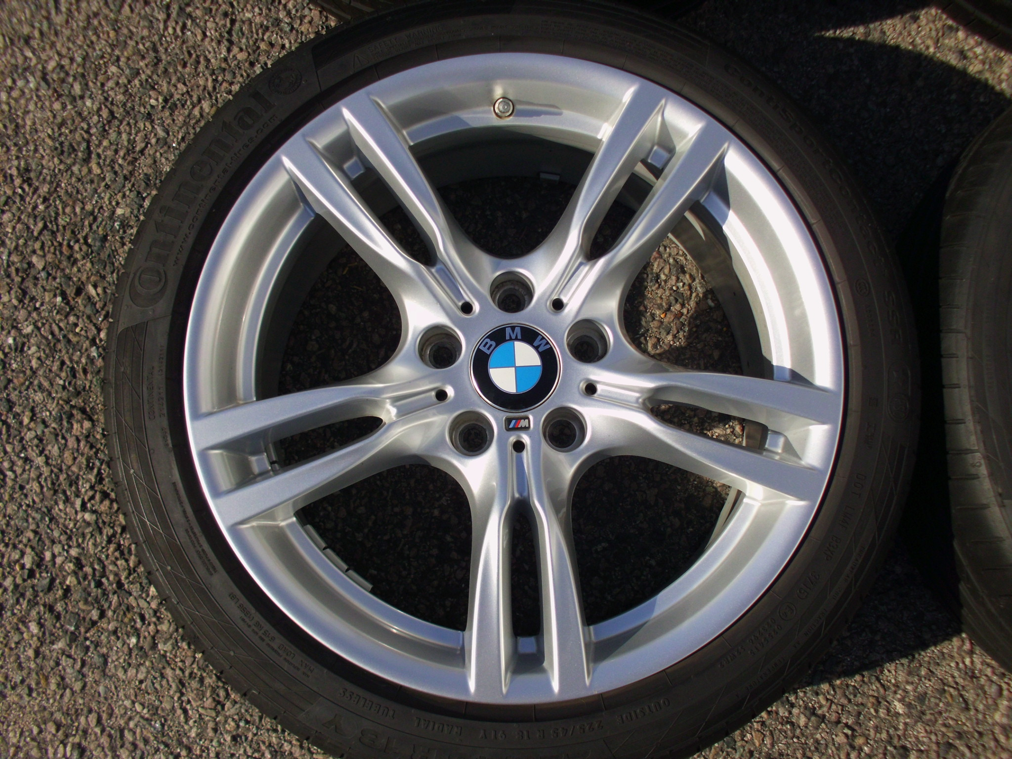 "USED 18"" GENUINE STYLE 400 M SPORT ALLOY WHEELS, WIDER REARS,VGC, INC VG CONTINENTAL RUNFLAT TYRES + TPMS"