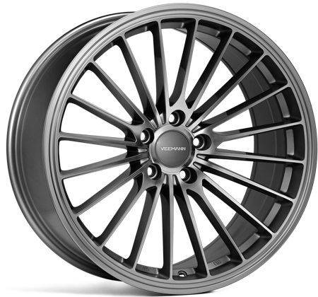 "NEW 19"" VEEMANN V-FS36 ALLOY WHEELS IN GLOSS GRAPHITE WITH WIDER 9.5"" REARS"