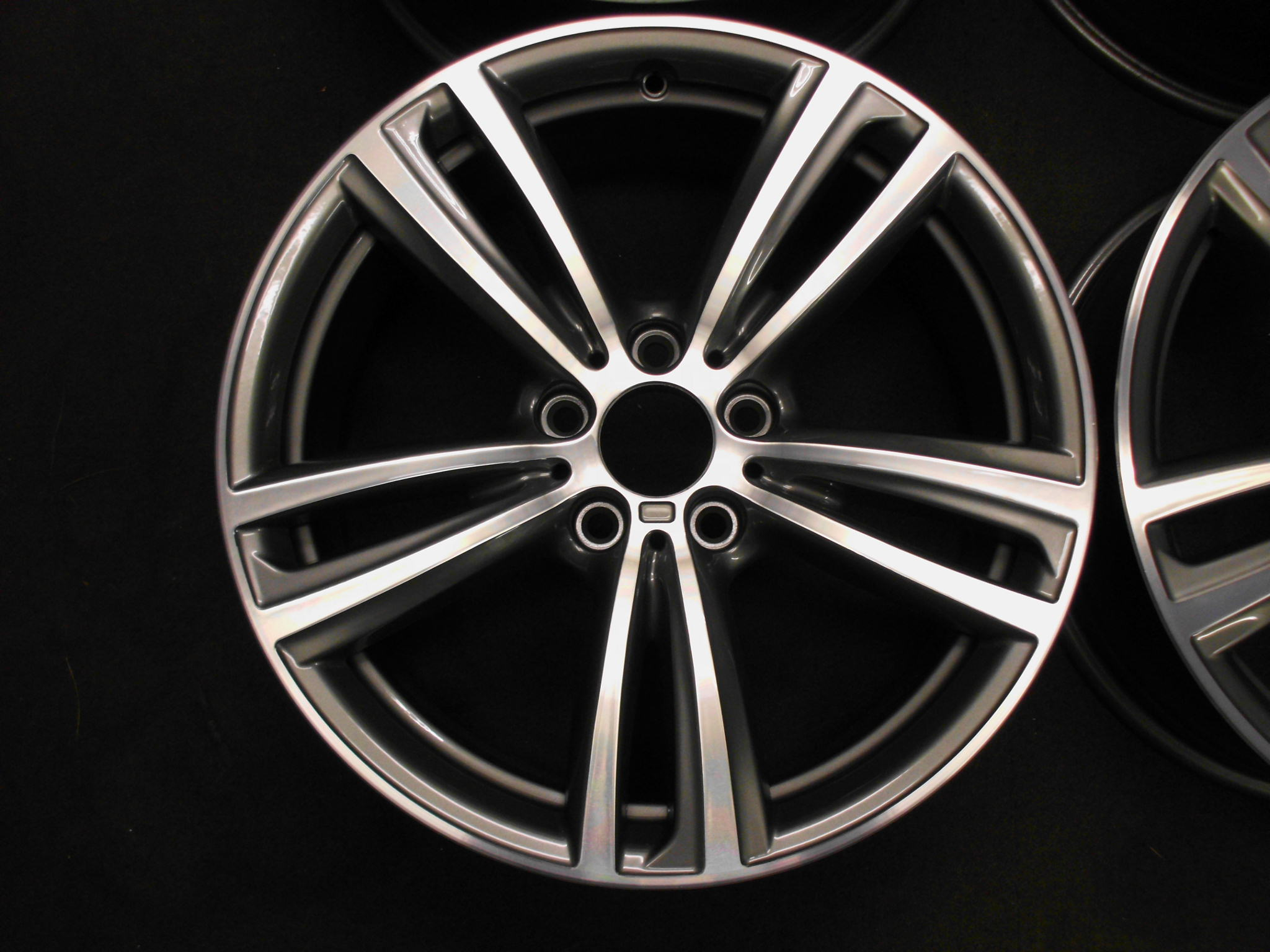 "USED 19"" GENUINE BMW STYLE 442 F30/31 M DOUBLE SPOKE ALLOY WHEELS,WIDE REAR, FULLY REFURBED"