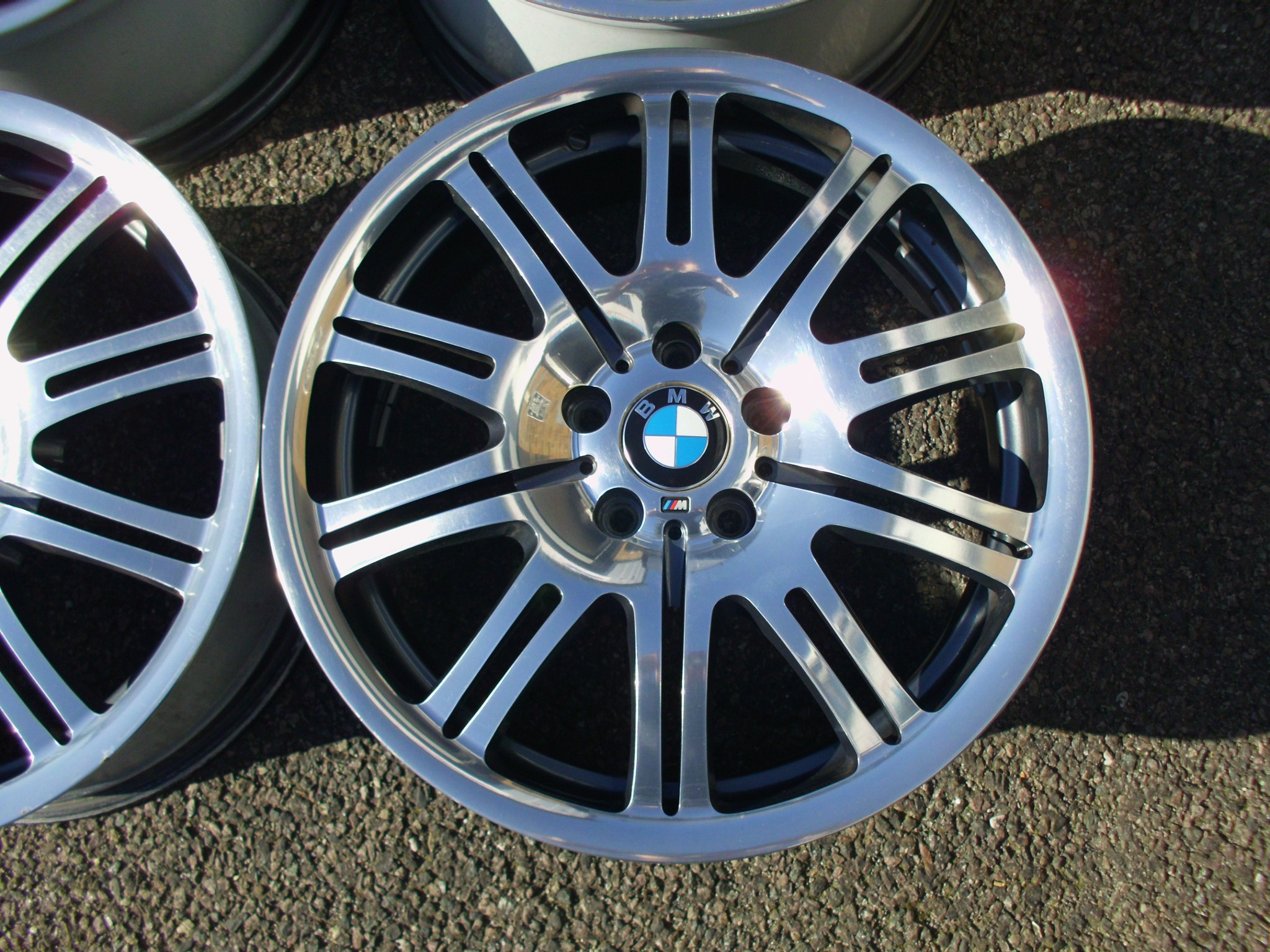 "USED 19"" GENUINE STYLE 67 E46 M3 FORGED POLISHED ALLOYS,WIDE REAR,EXCELLENT ORIGINAL CONDITION"