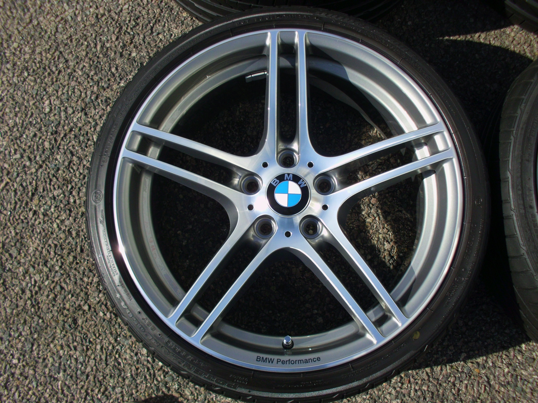 "USED 19"" GENUINE STYLE 313 M PERFORMANCE BBS ALLOY WHEELS, FULLY REFURBED,WIDE REAR INC GOOD BRIDGESTONE RUNFLATS"