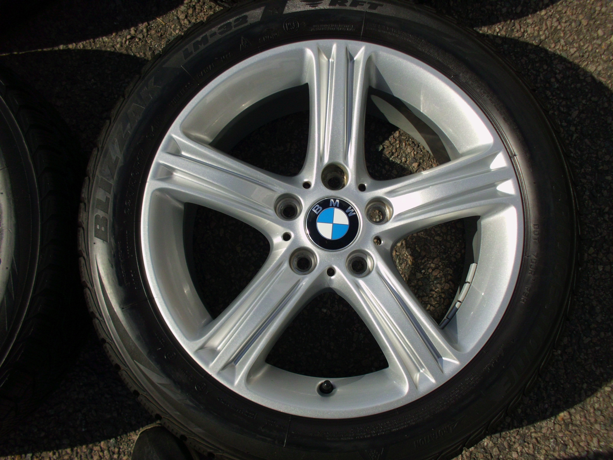 "USED 17"" GENUINE STYLE 393 F30 5 SPOKE ALLOY WHEELS, VGC INC VG WINTER BRIDGESTONE RUNFLATS"