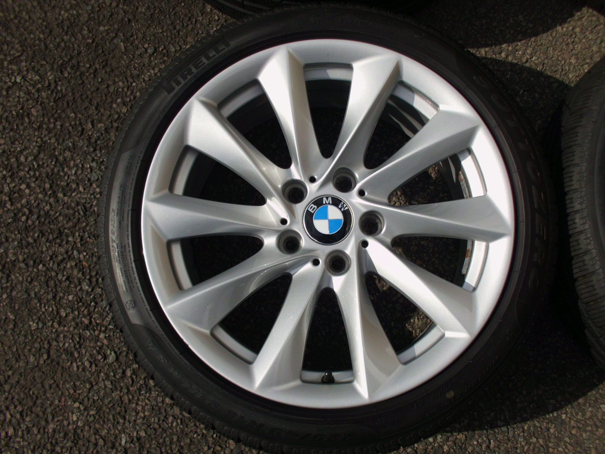 "USED 18"" GENUINE STYLE 415 TURBINE SPOKE ALLOY WHEELS, INC WINTER PIRELLI RUNFLAT TYRES"