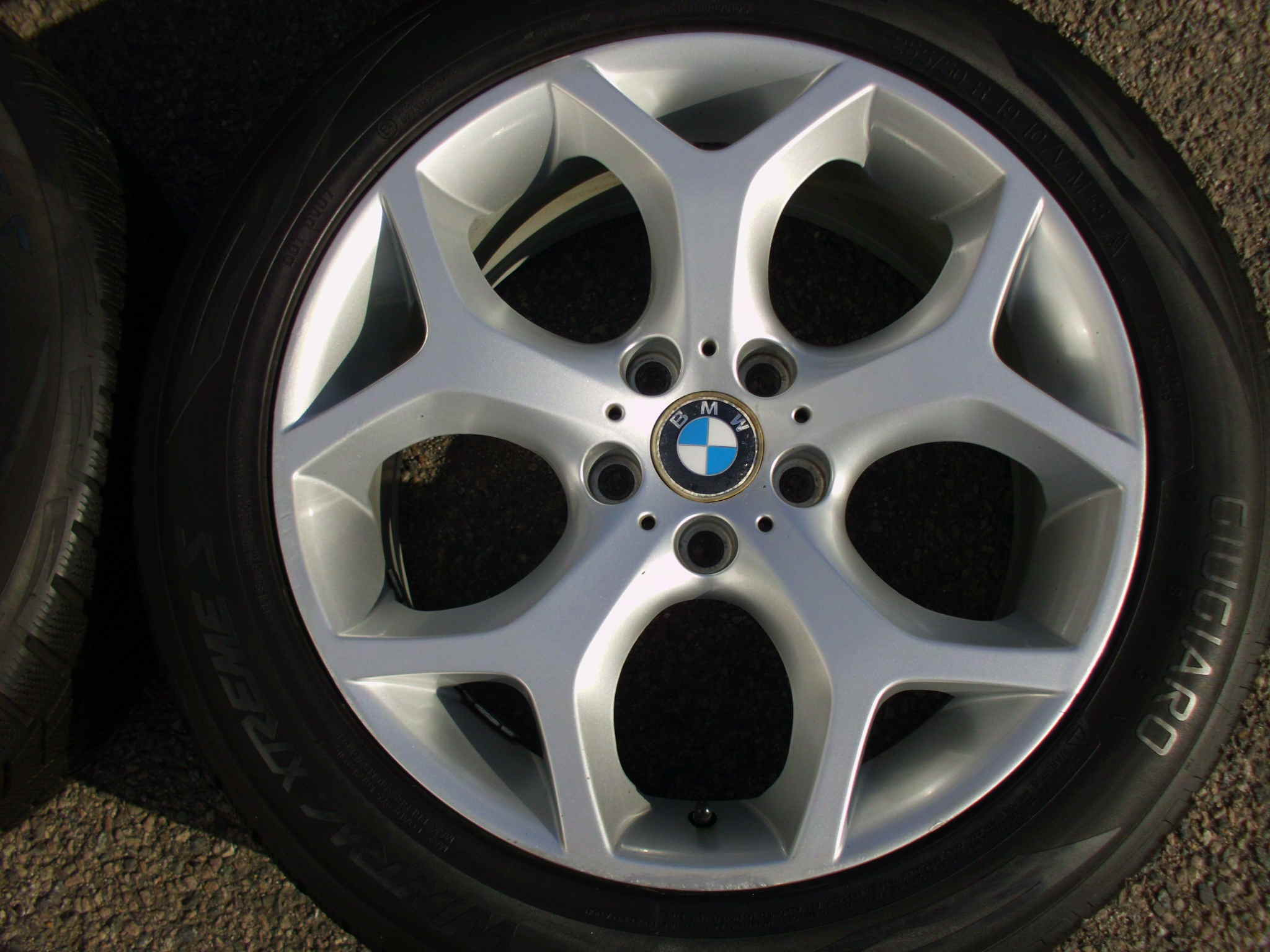 "USED 19"" NON OE REPLACMENT Y SPOKE X5 ALLOYS, VGC,WITH VG, WIDE REARS, INC VG MATCHING VREDESTINE WINTER TYRES"