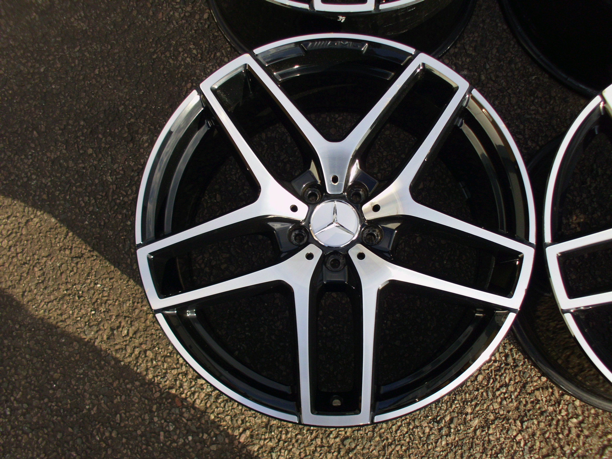 "USED 21"" GENUINE MERCEDES GLE C292 AMG 5 TWIN SPOKE ALLOYS,MASSIVE 11"" REARS GOOD CONDITION"