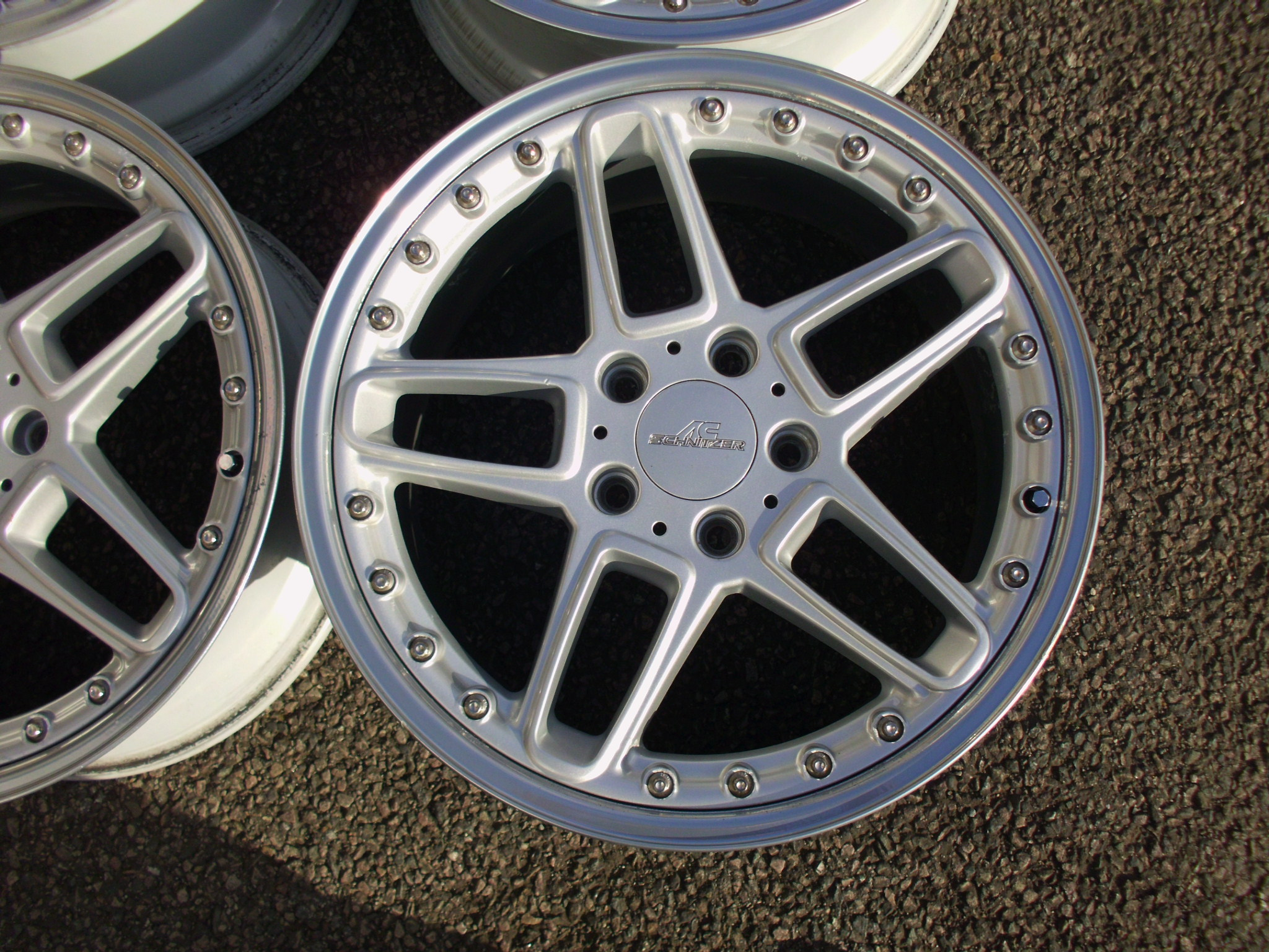 "USED 18"" GENUINE AC SCHNITZER TYPE III RACING ALLOYS,BEEN PREVIOUSLY REFURBED"