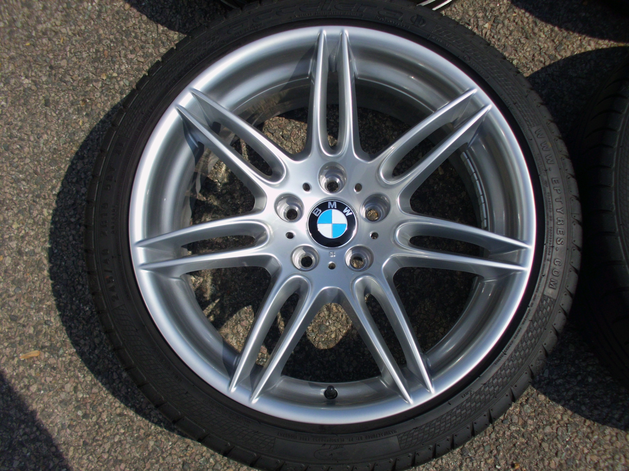 "USED 19"" GENUINE STYLE 288 DOUBLE SPOKE ALLOYS FROM LATER SPORT MODELS,WIDE REAR, FULLY REFURBED INC VG TYRES"
