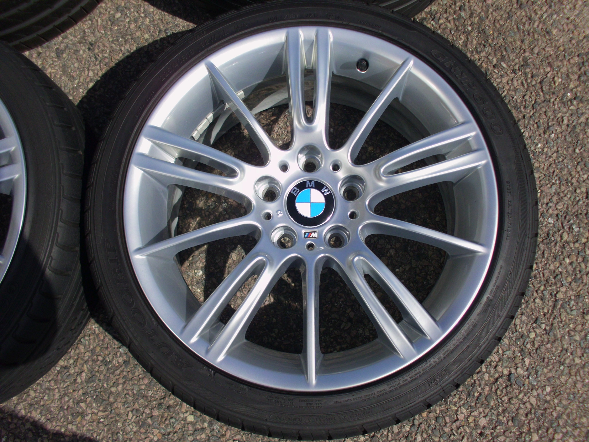 "USED 18"" GENUINE STYLE 193 E9X MV3 SPORT ALLOYS,FULLY REFURBED,WIDE REAR INC GOOD NON RUNFLAT TYRES"