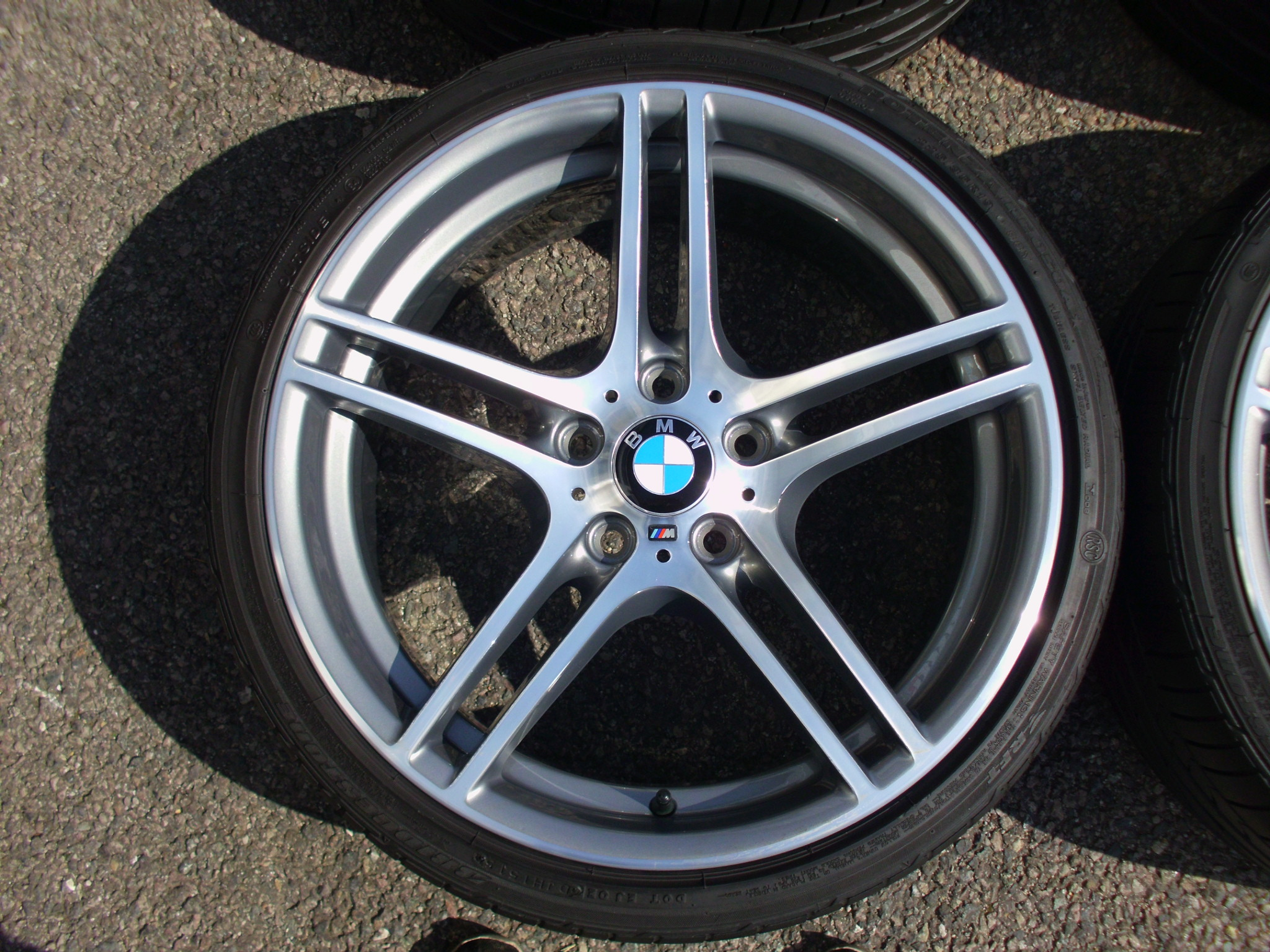 "USED 19"" GENUINE STYLE 313 M SPORT ALLOY WHEELS,FULLY REFURBED,WIDE REAR INC BRIDGESTONE RUNFLATS"