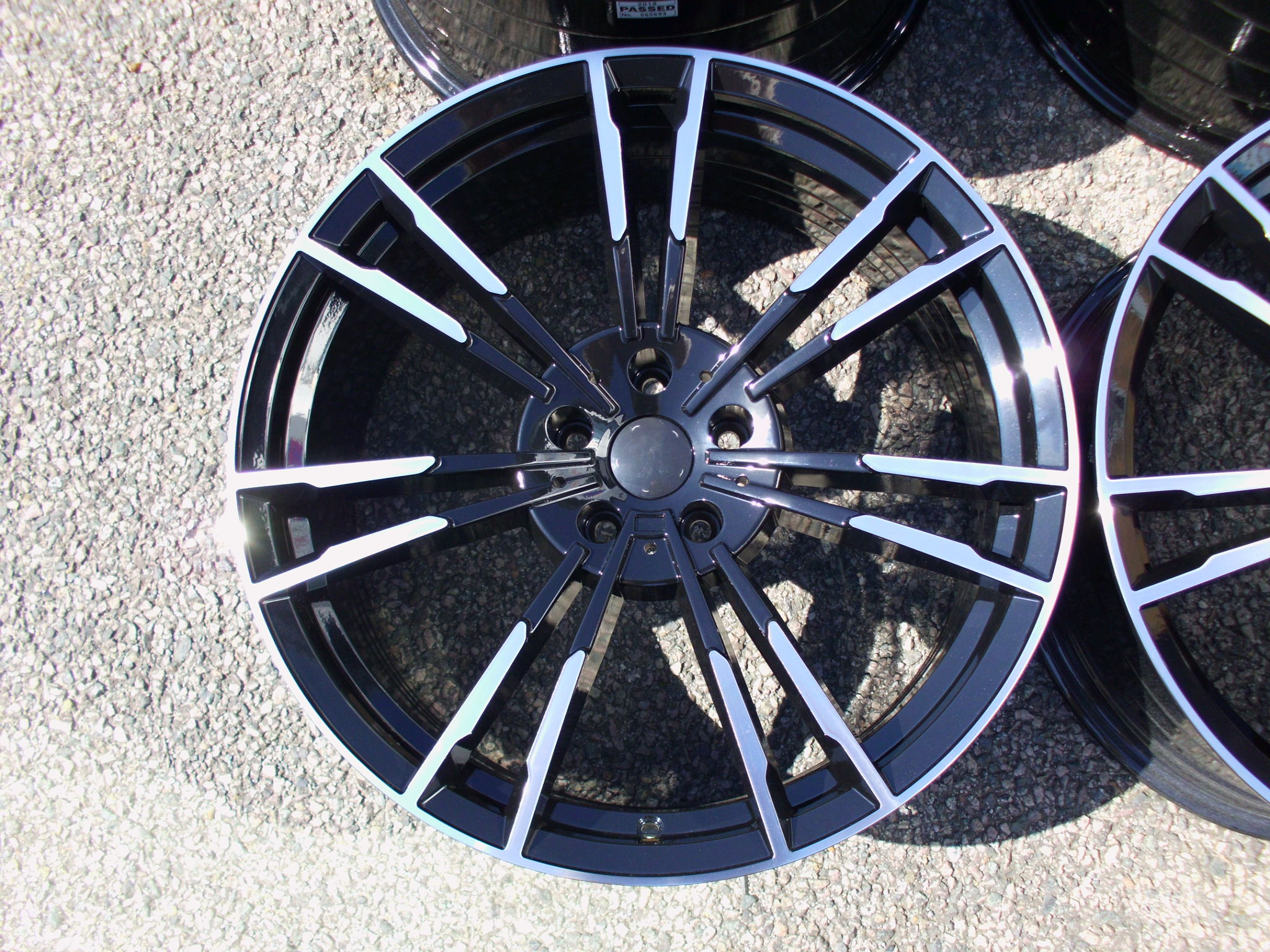 "NEW 20"" AG MG355 FLOW FORMED ALLOY WHEELS IN GLOSS BLACK POL, DEEPER CONCAVE 10.5"" REAR"