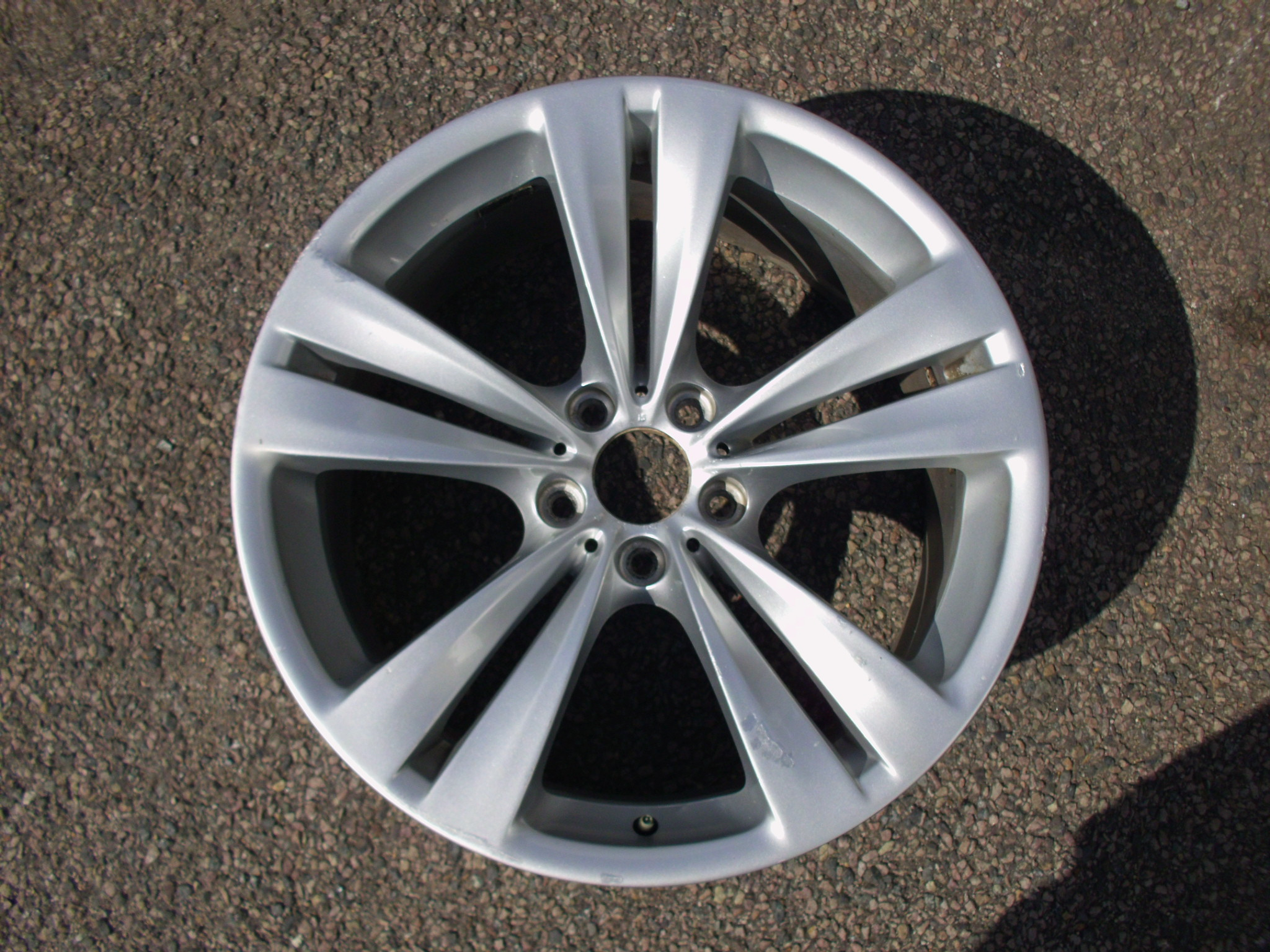 "USED SINGLE 20"" GENUINE BMW F07 5 SERIES GT , F01 7 SEIRES REAR STYLE 316 ALLOY WHEEL,GC"