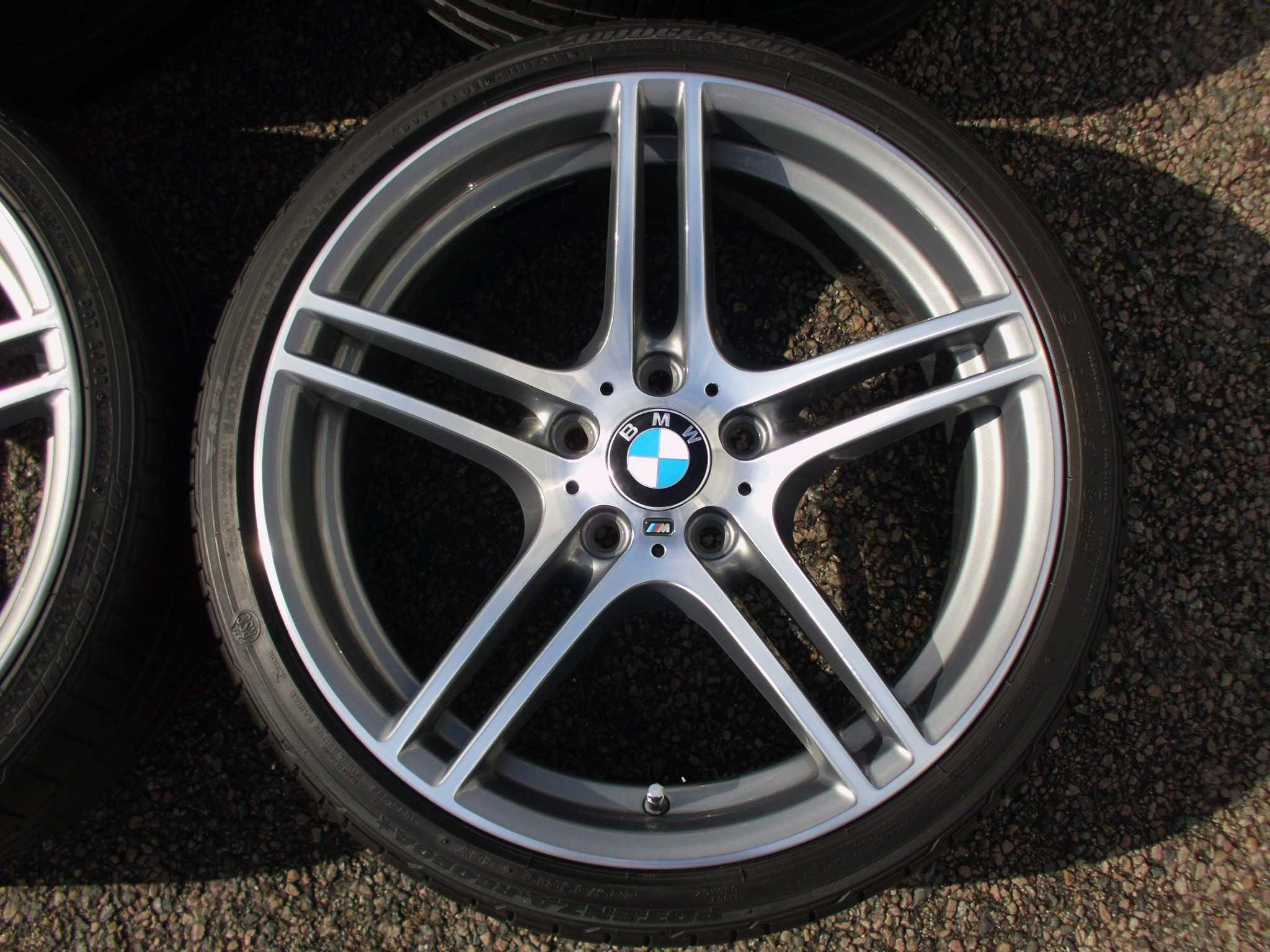 "USED 19"" GENUINE STYLE 313 M SPORT ALLOY WHEELS,FULLY REFURBED,WIDE REAR INC VG BRIDGESTONE RUNFLATS"