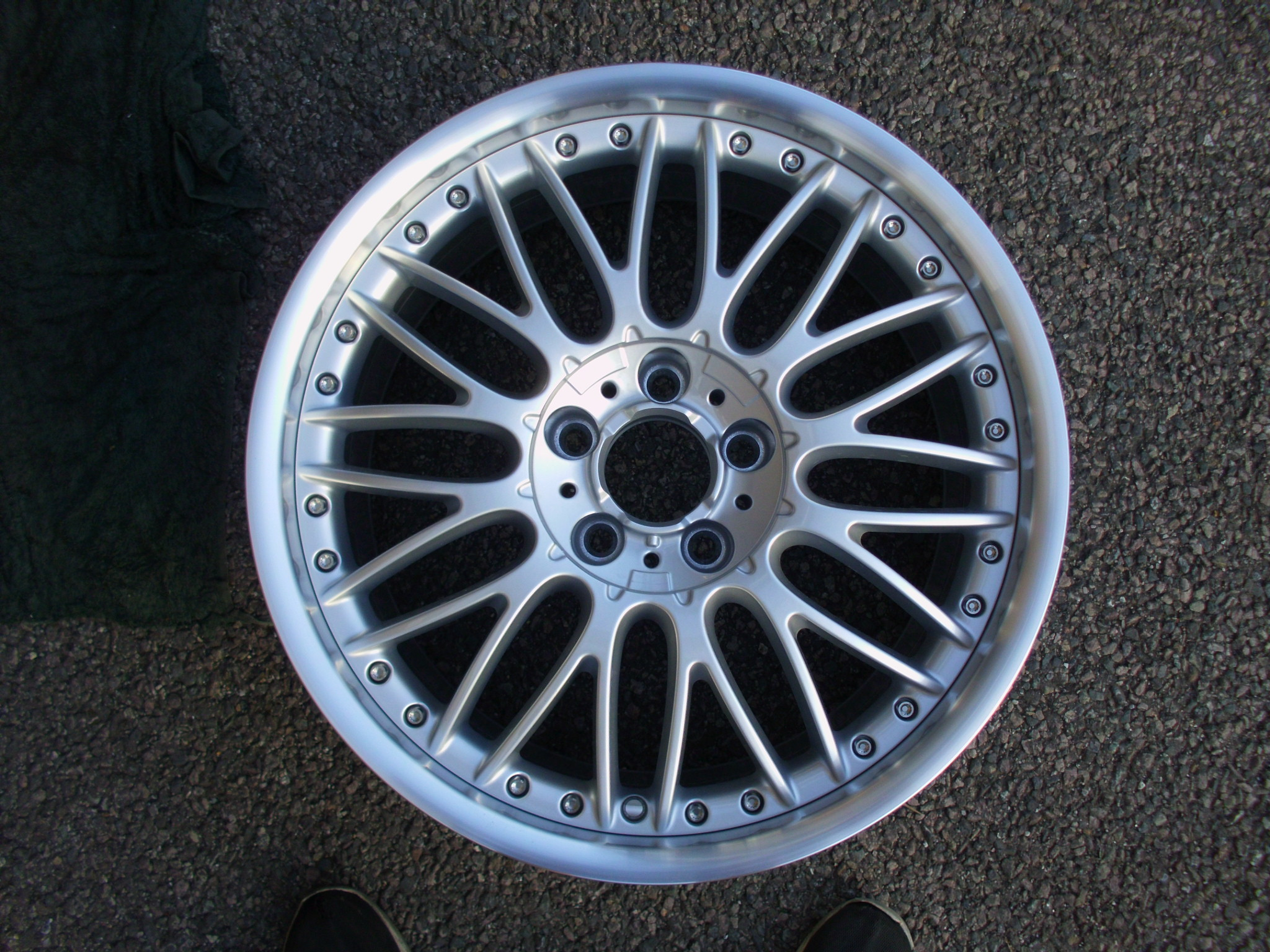 "USED/NEW SINGLE 19"" GENUINE BMW E60 5 SERIES FRONT STYLE 101 BBS ALLOY WHEEL, EX DISPLAY ,NEVER FITTED"