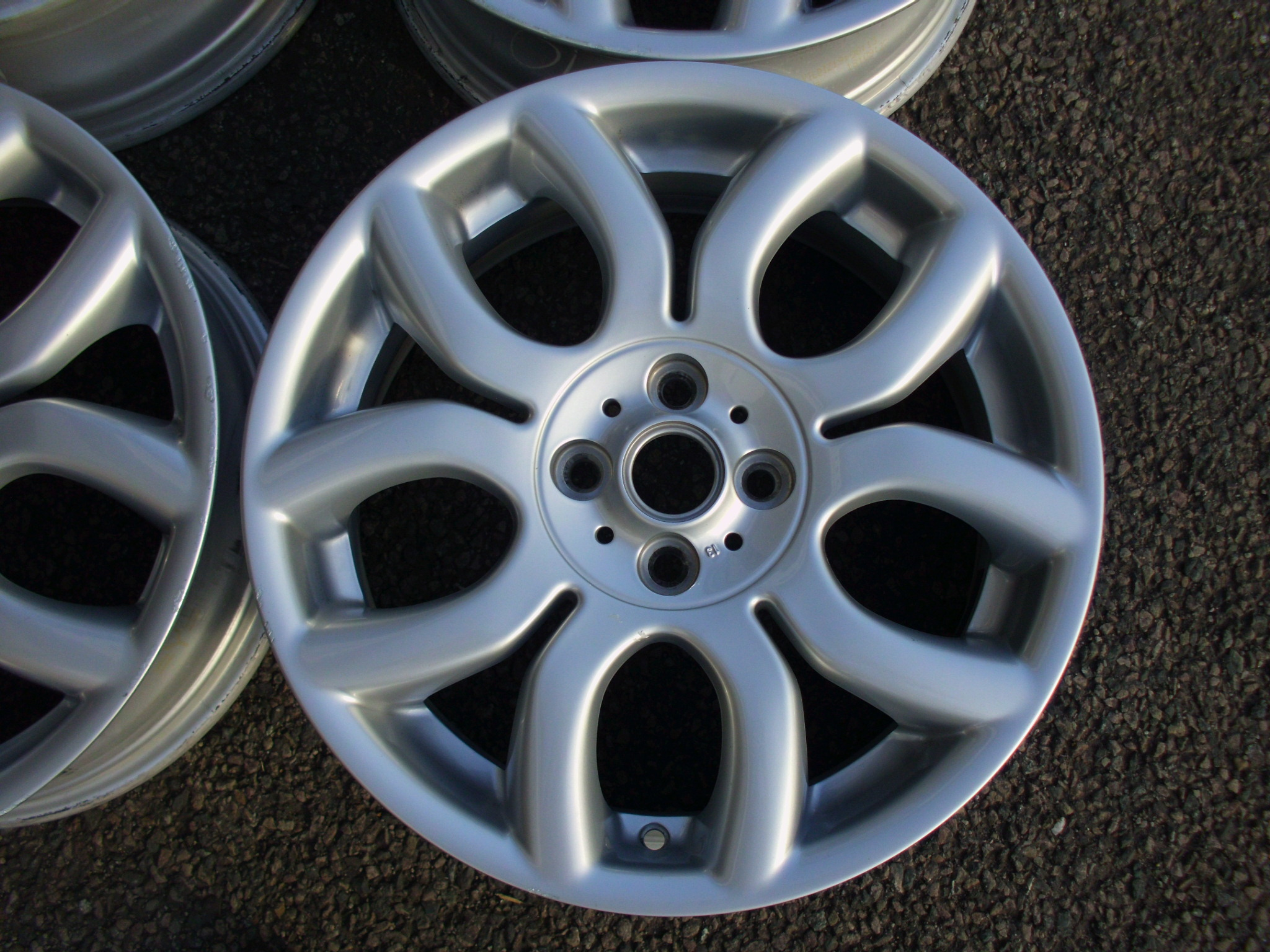 "USED 17"" GENUINE MINI COOPER S R97 FLAME U SPOKE ALLOY WHEELS, VGC"