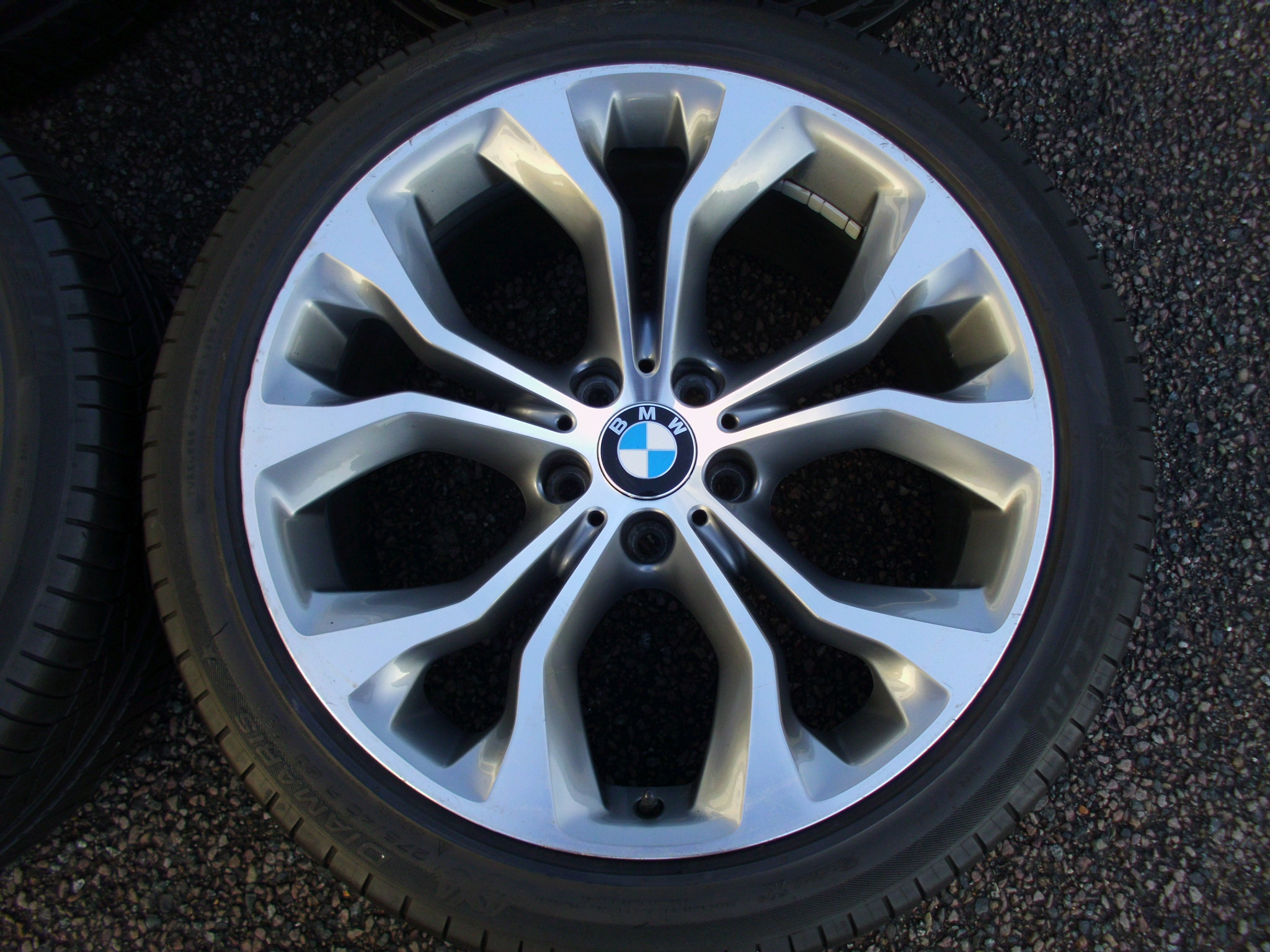 "USED 20"" GENUINE STYLE 451 F15/16 X5/X6 Y SPOKE SPORT ALLOY WHEELS,CLEAN,11"" REAR, INCLUDING GOOD NON RUNFLAT TYRES"