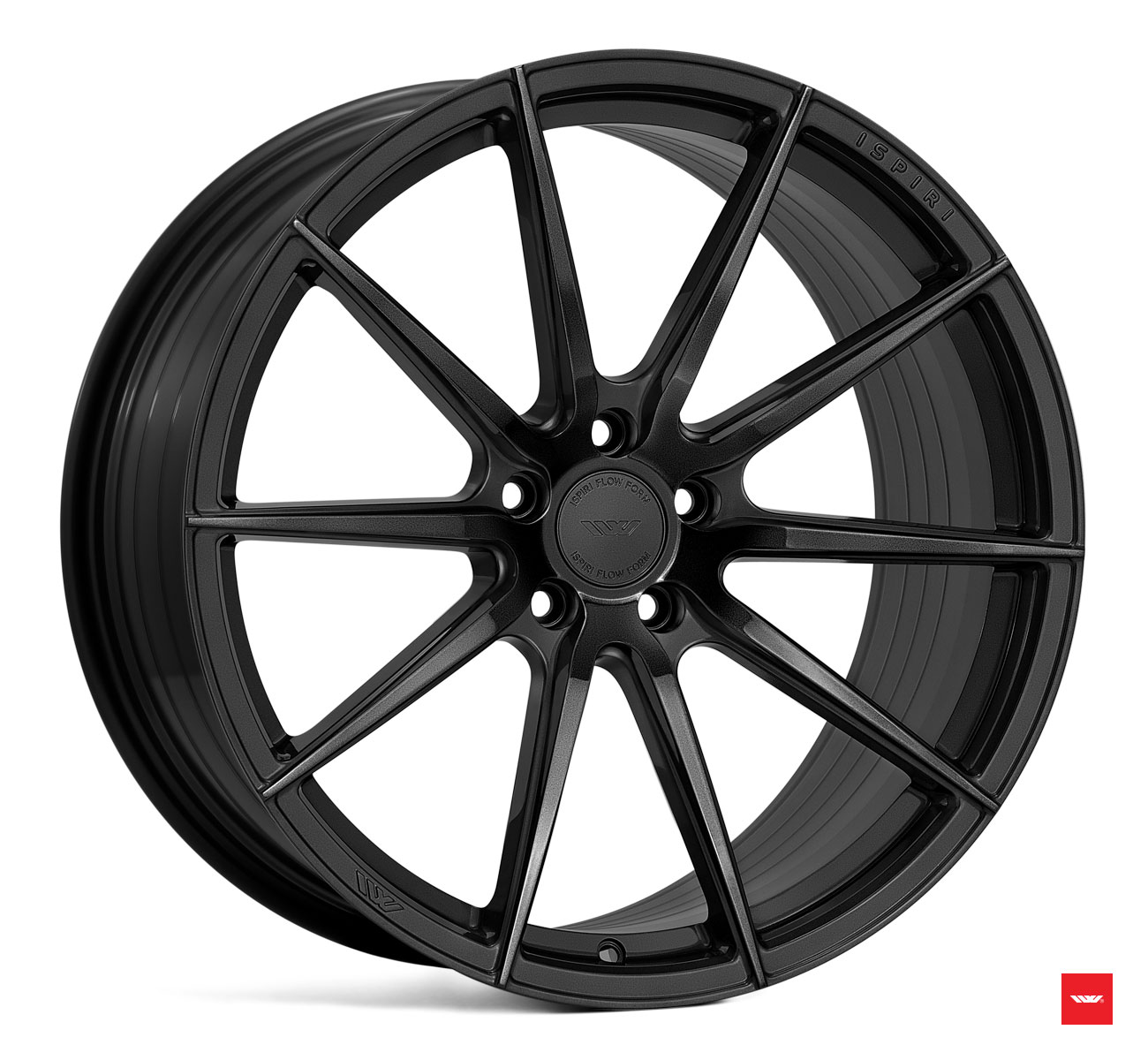 "NEW 20"" ISPIRI FFR1 MULTI-SPOKE ALLOY WHEELS IN CORSA BLACK, DEEPER CONCAVE 10"" REARS et42/45"