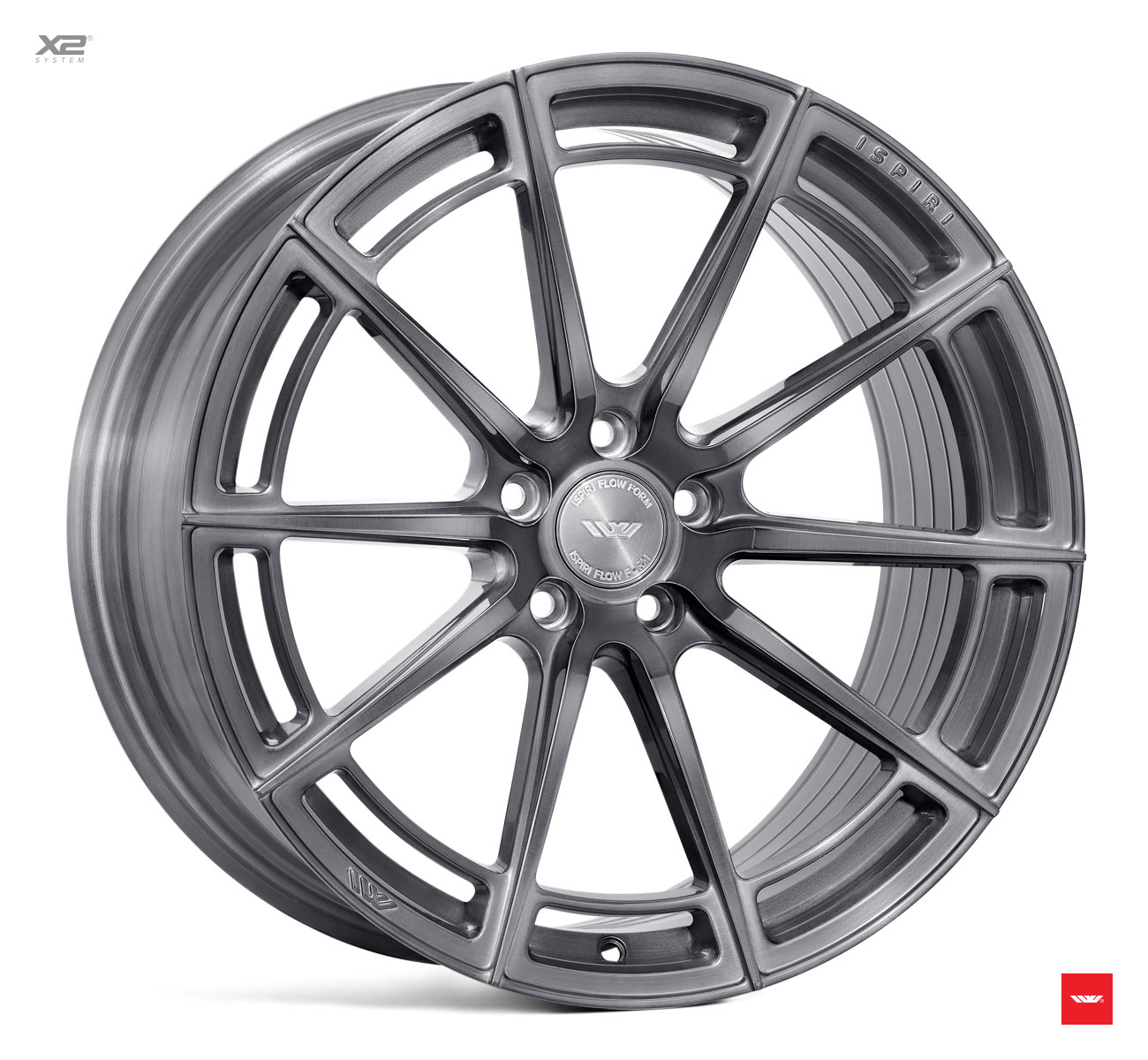 "NEW 20"" ISPIRI FFR2 MULTI-SPOKE ALLOY WHEELS IN FULL BRUSHED CARBON TITANIUM , WIDER 10"" REAR"