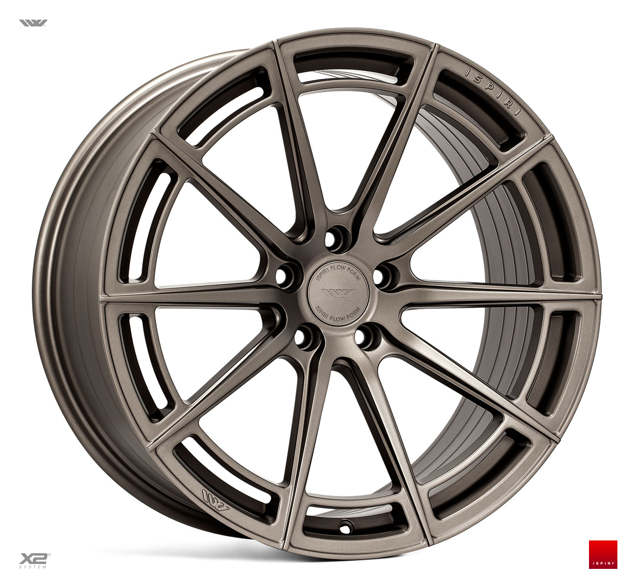"NEW 20"" ISPIRI FFR2 MULTI-SPOKE ALLOY WHEELS IN MATT CARBON BRONZE , WIDER 10"" OR 10.5"" REAR"