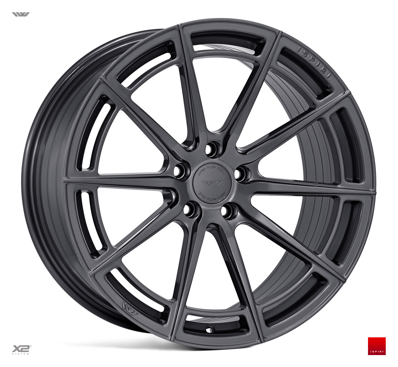 "NEW 20"" ISPIRI FFR2 MULTI-SPOKE ALLOY WHEELS IN CARBON GRAPHITE, WIDER 10"" REAR"