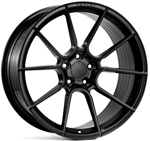 "NEW 20"" ISPIRI FFR6 TWIN 5 SPOKE ALLOY WHEELS IN CORSA BLACK, WIDER 10"" REAR"