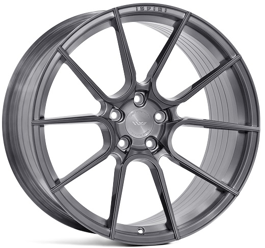 "NEW 19"" ISPIRI FFR6 TWIN 5 SPOKE ALLOY WHEELS IN CARBON GREY BRUSHED, WIDER 9.5"" REAR"