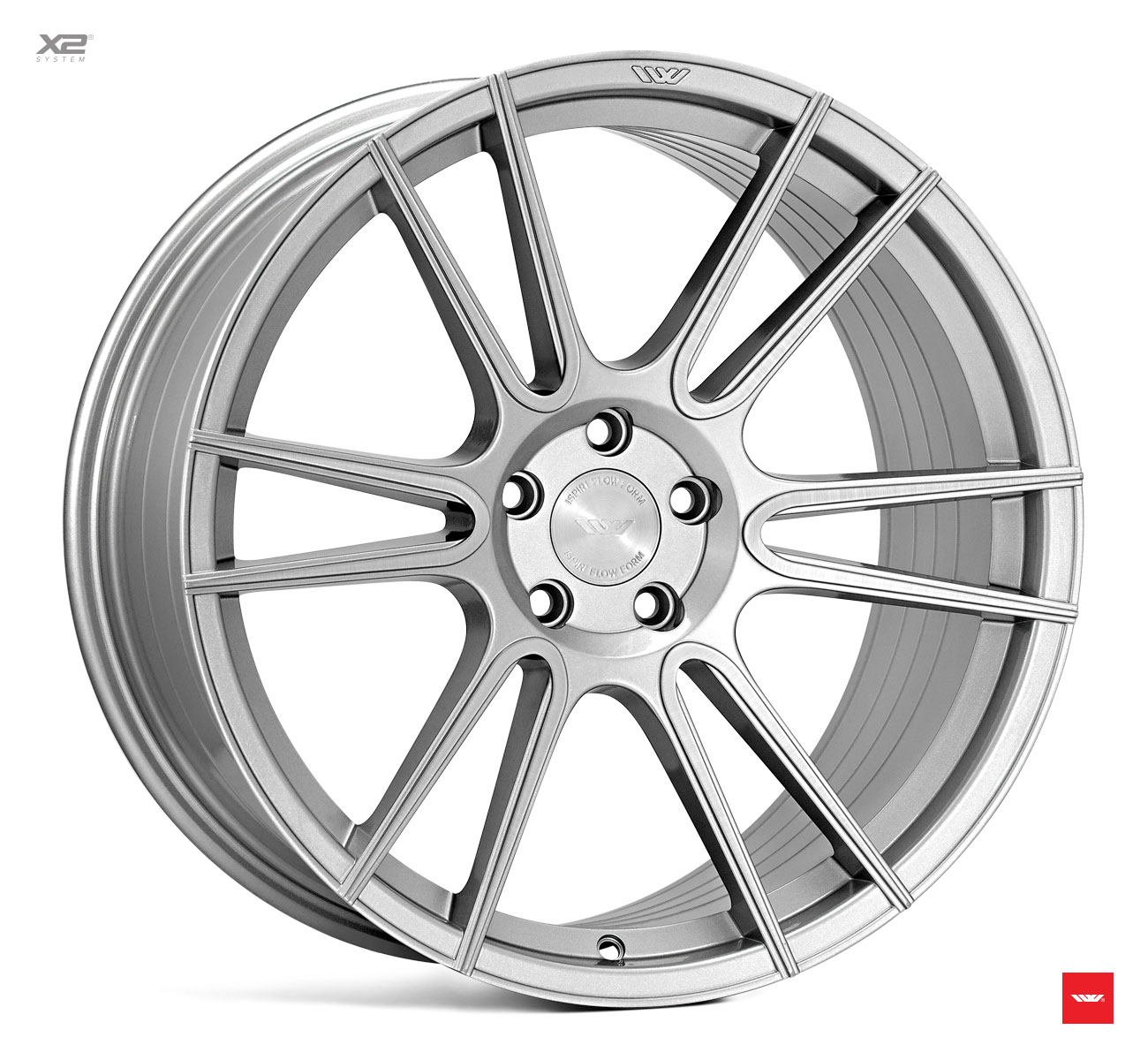 "NEW 20"" ISPIRI FFR7 TWIN CURVED 6 SPOKE ALLOY WHEELS IN PURE SILVER BRUSHED, WIDER 10"" REAR 5x120"