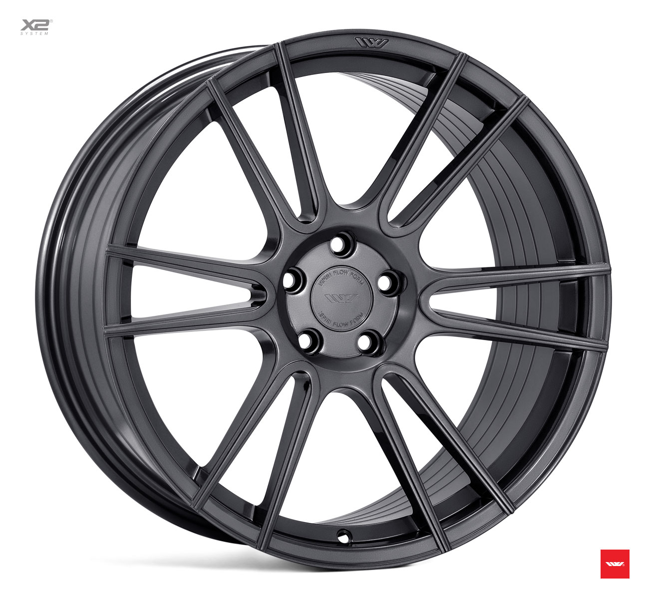 "NEW 20"" ISPIRI FFR7 TWIN CURVED 6 SPOKE ALLOY WHEELS IN CARBON GRAPHITE, WIDER 10"" REAR"