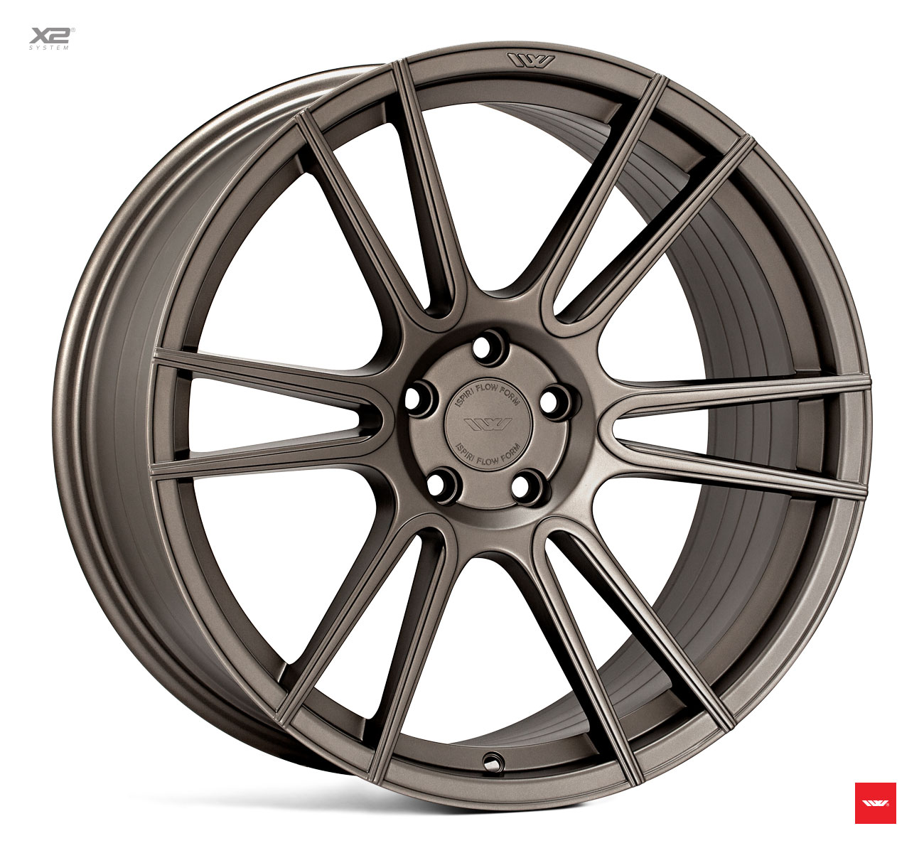 "NEW 20"" ISPIRI FFR7 TWIN CURVED 6 SPOKE ALLOY WHEELS IN MATT CARBON BRONZE, WIDER 10"" REAR 5x120"