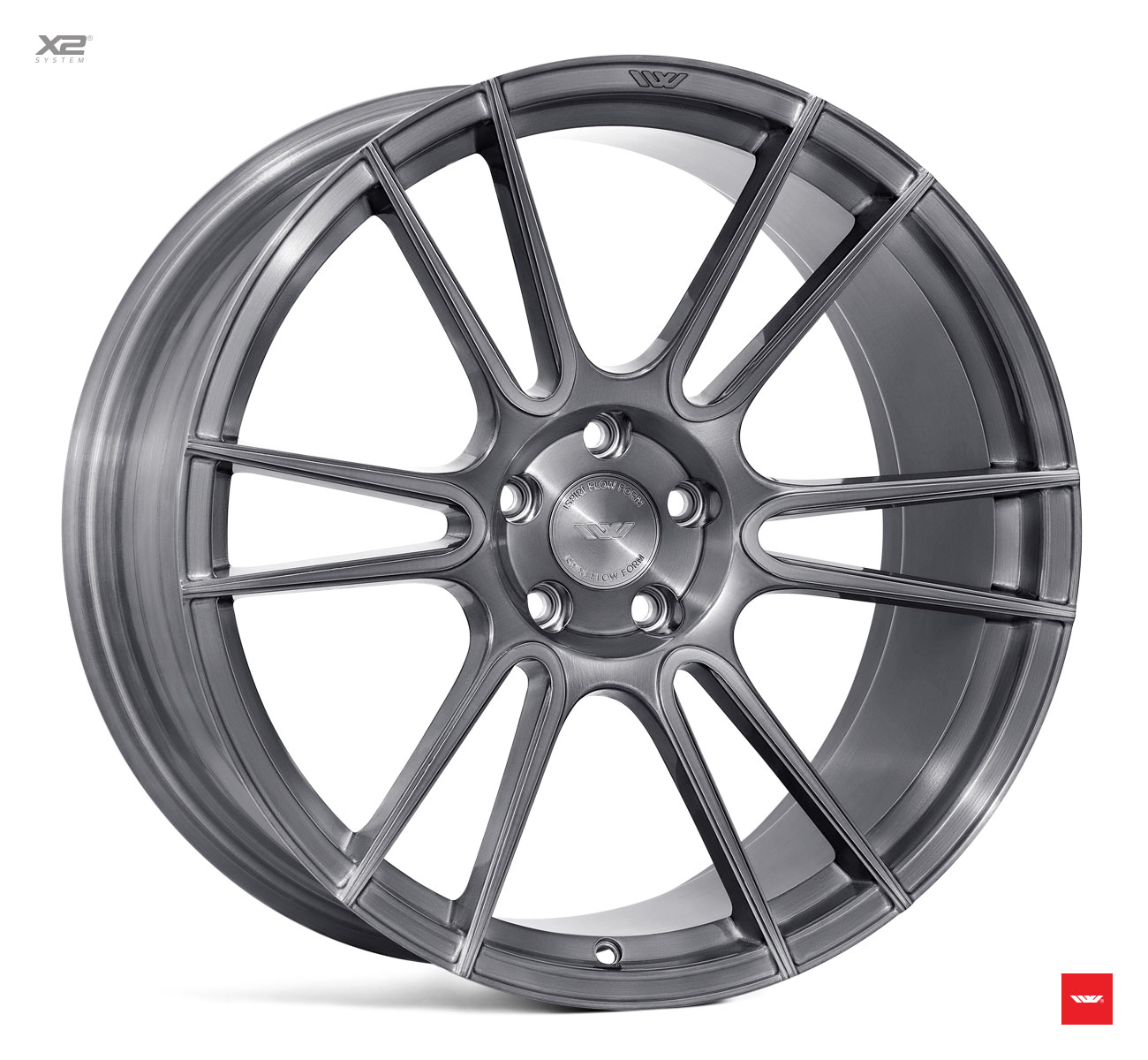 "NEW 20"" ISPIRI FFR7 TWIN CURVED 6 SPOKE ALLOY WHEELS IN FULL BRUSHED CARBON TITANIUM, WIDER 10"" REAR 5x120"