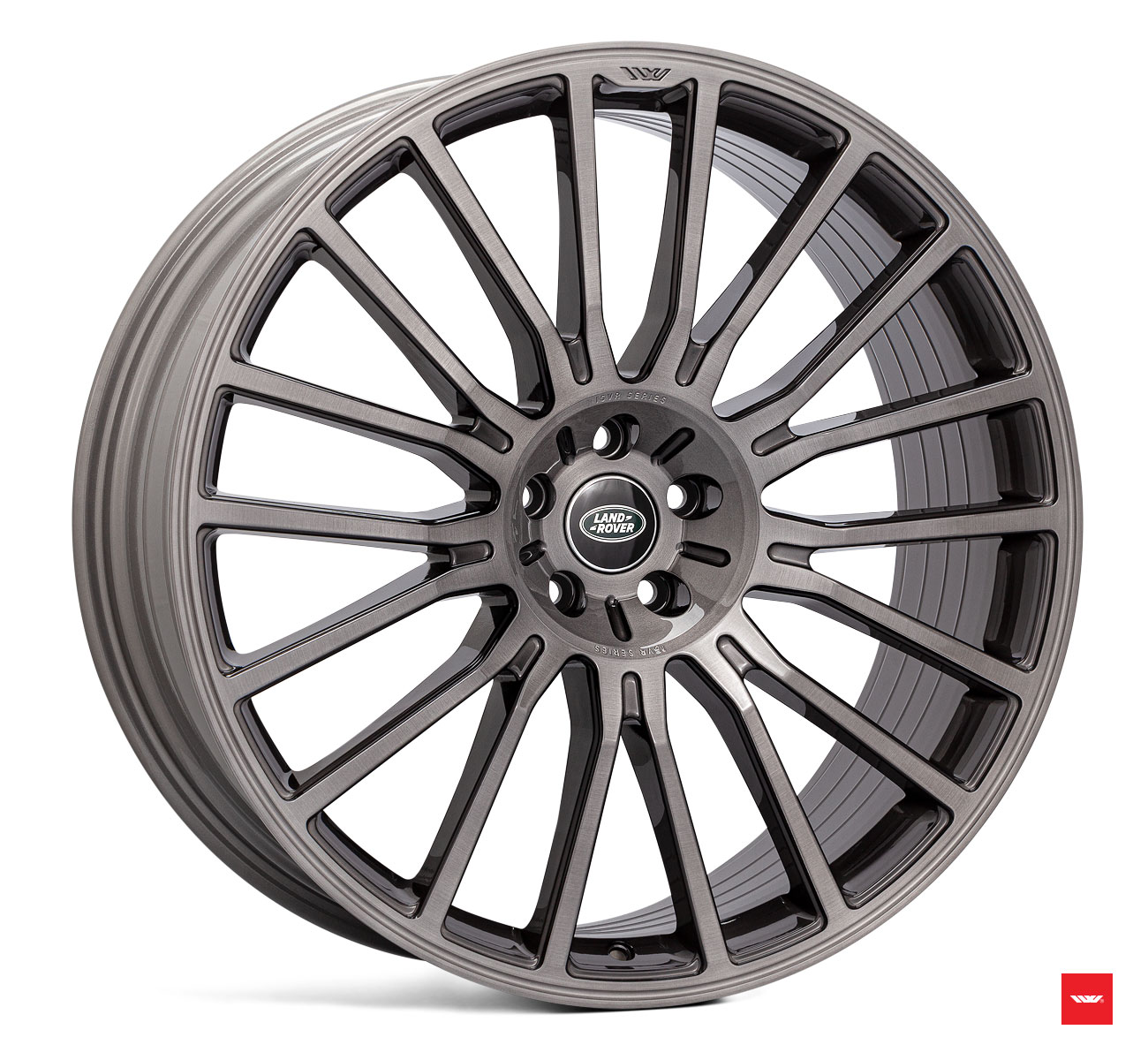 "NEW 22"" ISPIRI ISVR1 MULTISPOKE ALLOY WHEELS IN CARBON GREY BRUSHED"