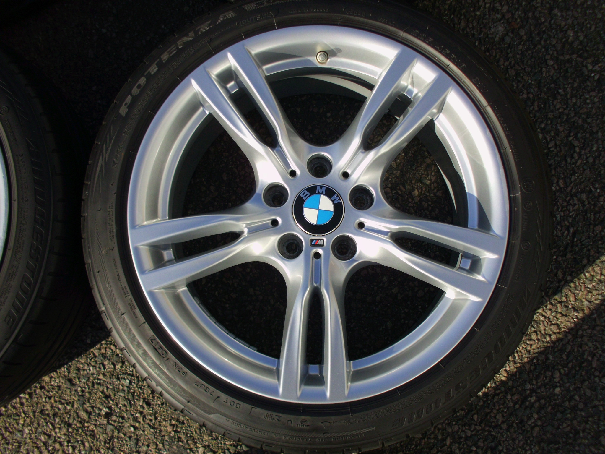 "USED 18"" GENUINE STYLE 400 M SPORT ALLOYS,WIDER REARS,GOOD CONDITION, INC GOOD BRIDGESTONE RUNFLAT TYRES + TPMS"
