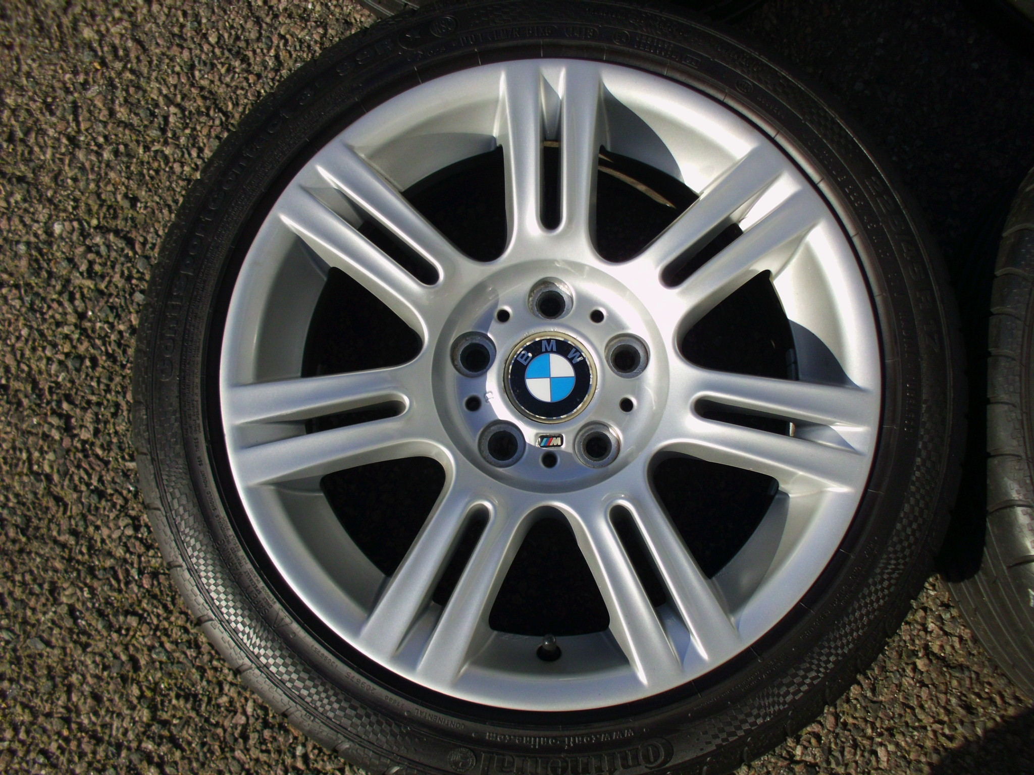 "USED 17"" GENUINE BMW STYLE 194 E9X SPORT ALLOY WHEELS,VGC, WIDE REAR INC RUNFLAT TYRES"