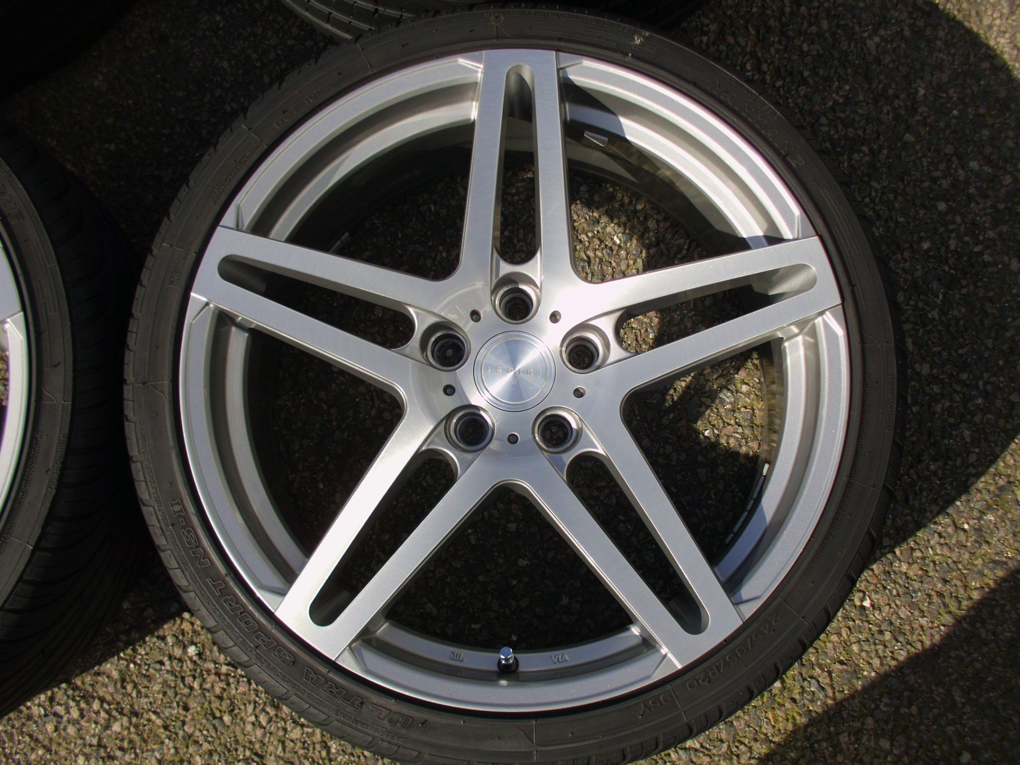 "USED 20"" ISPIRI ISR12 ALLOY WHEELS SILVER/BRUSHED POLISHED FACE, DEEPER CONCAVE 10"" REARS INC TYRES"