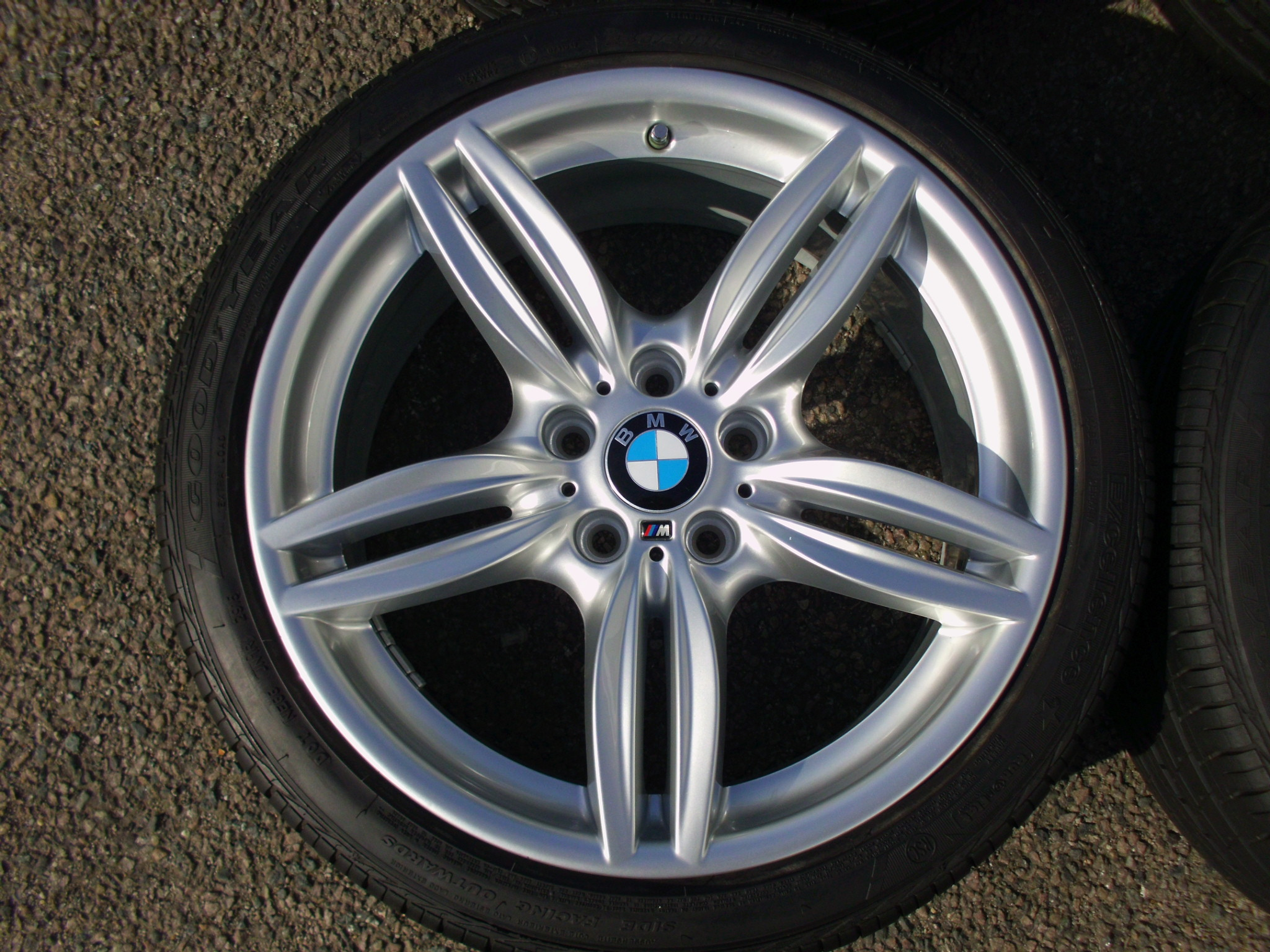"USED 19"" GENUINE BMW F11 STYLE 351 M SPORT ALLOY WHEELS, FULLY REFURBED INC GOODYEAR RUNFLAT TYRES"