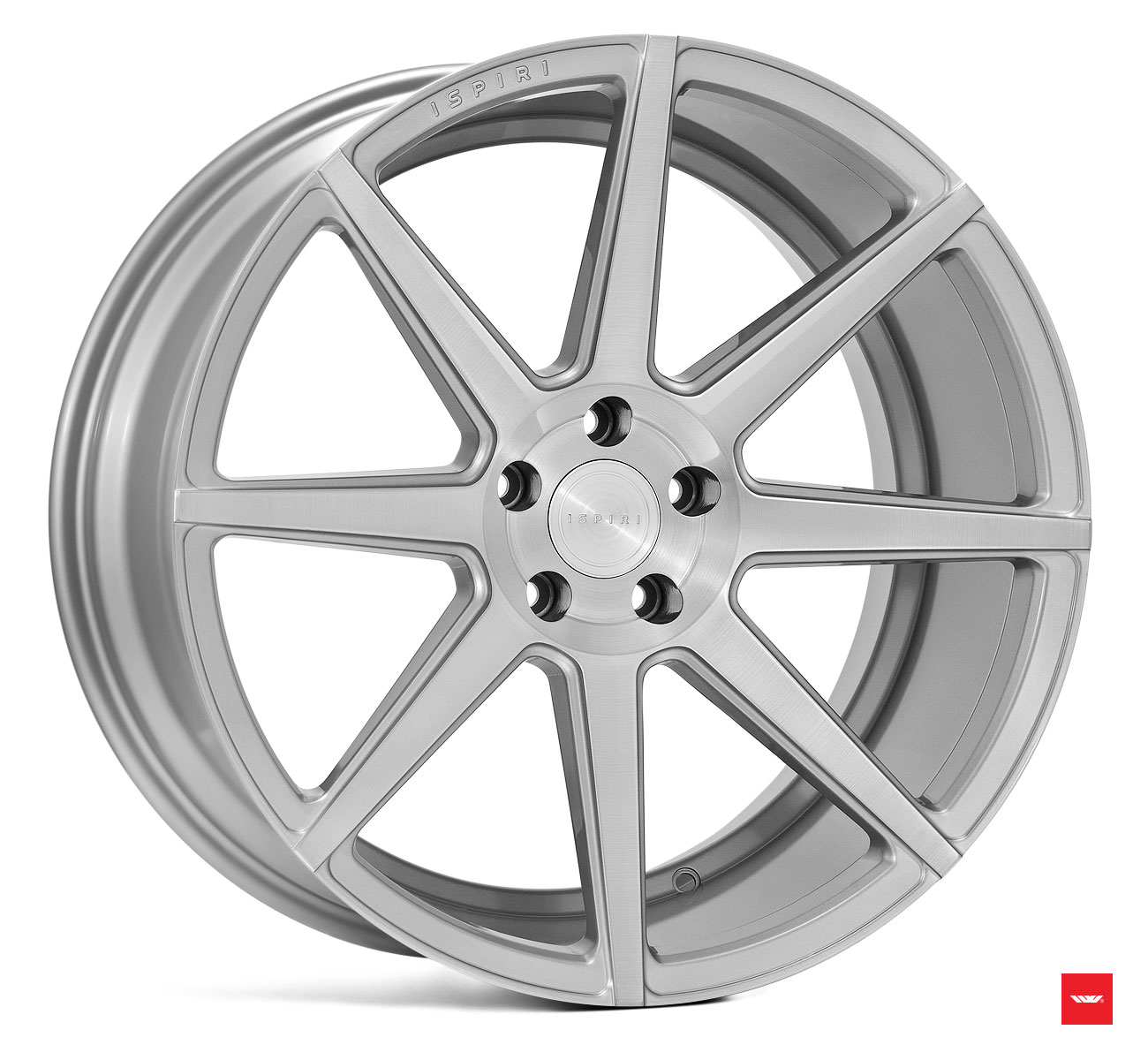 "NEW 19"" ISPIRI ISR8 ALLOY WHEELS IN PURE BRUSHED SILVER WITH WIDER 9.5"" REARS"