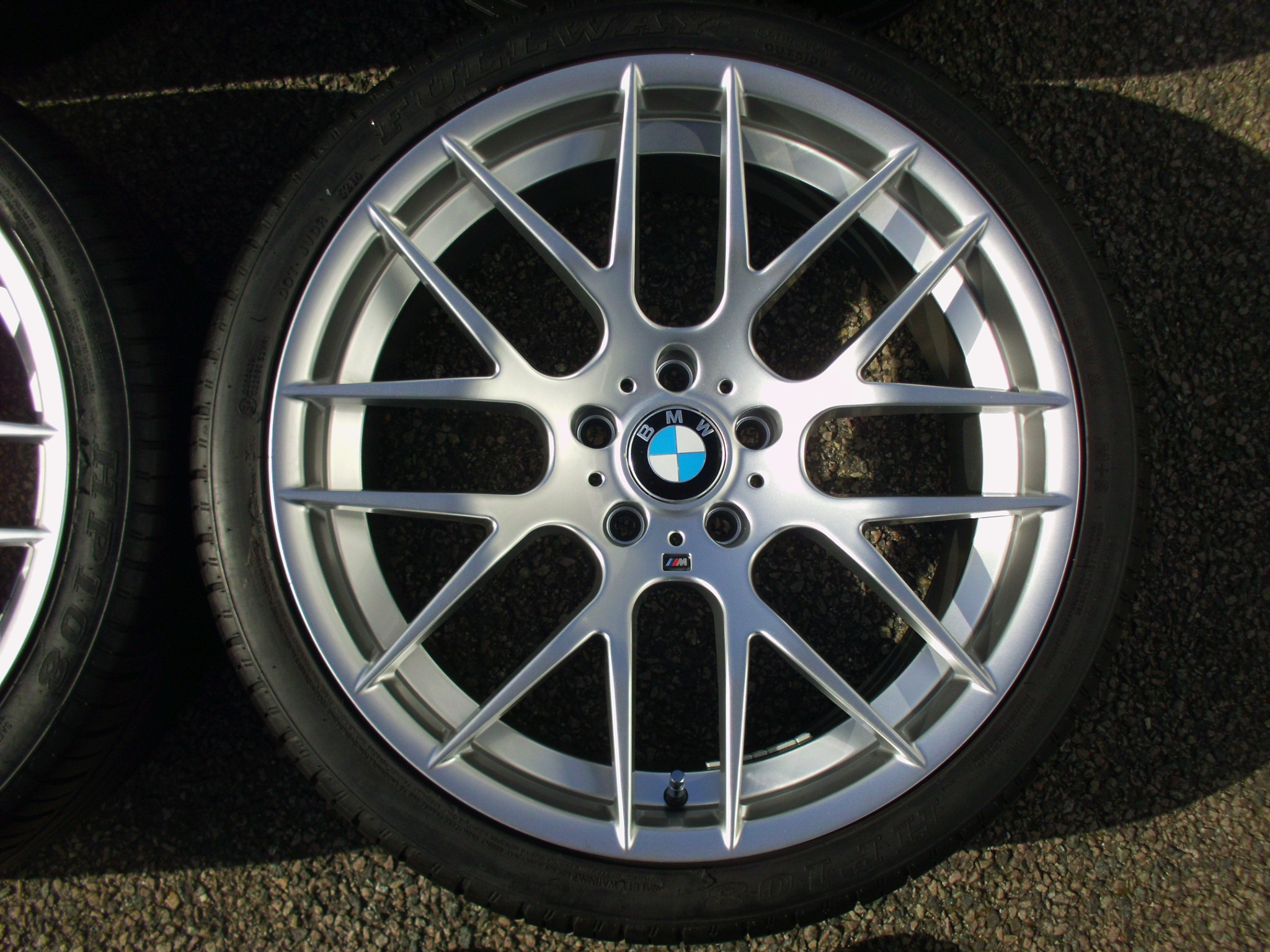 "NEW 20"" AVANT GARDE M359 Y SPOKE ALLOY WHEELS IN HYPER SILVER DEEPER CONCAVE 10.5"" REAR INC PART WORN TYRES"