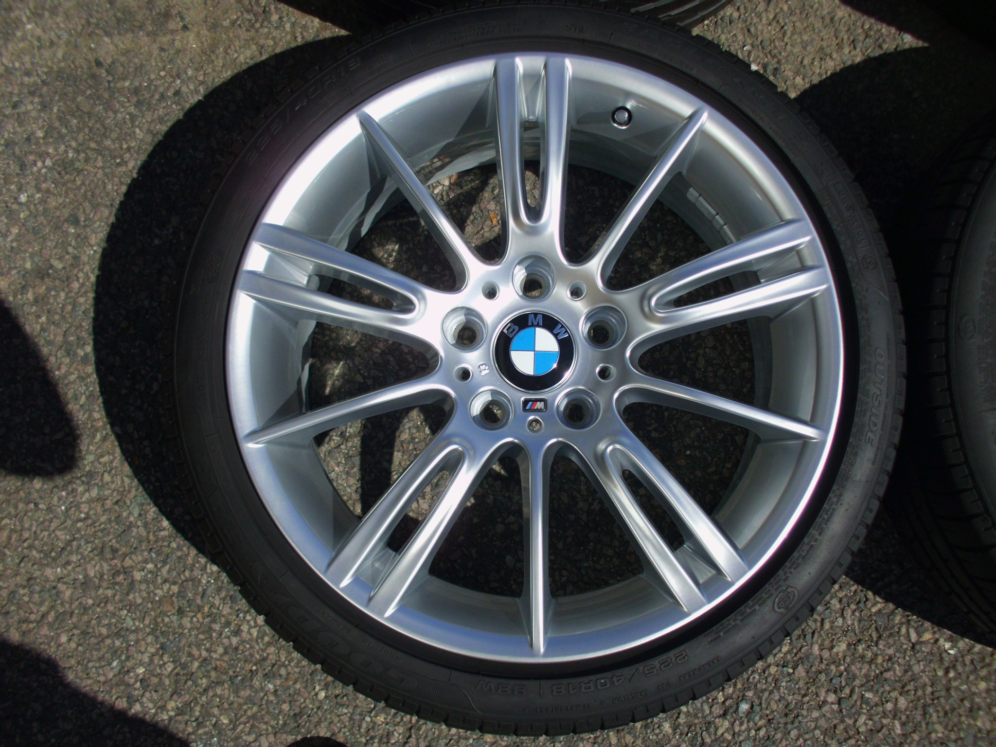 "USED 18"" GENUINE BMW STYLE 193 E9X MV3 SPORT ALLOYS,FULLY REFURBED,WIDE REAR INC GOOD RUNFLATS"