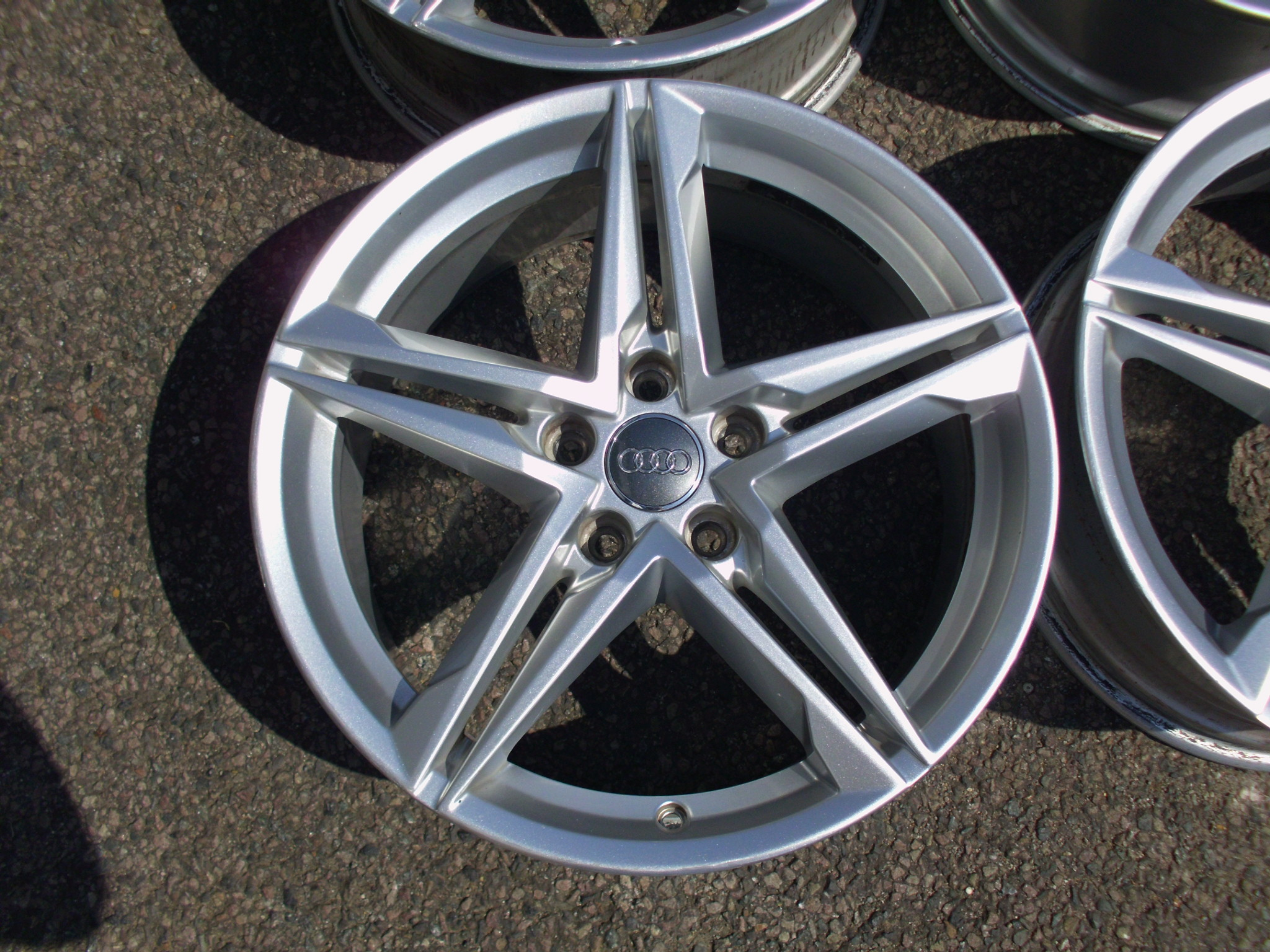 "USED 18"" GENUINE AUDI SPEEDLINE A4 SLINE 5 SPOKE ALLOY WHEELS ,CLEAN INC 5X112 ET40"