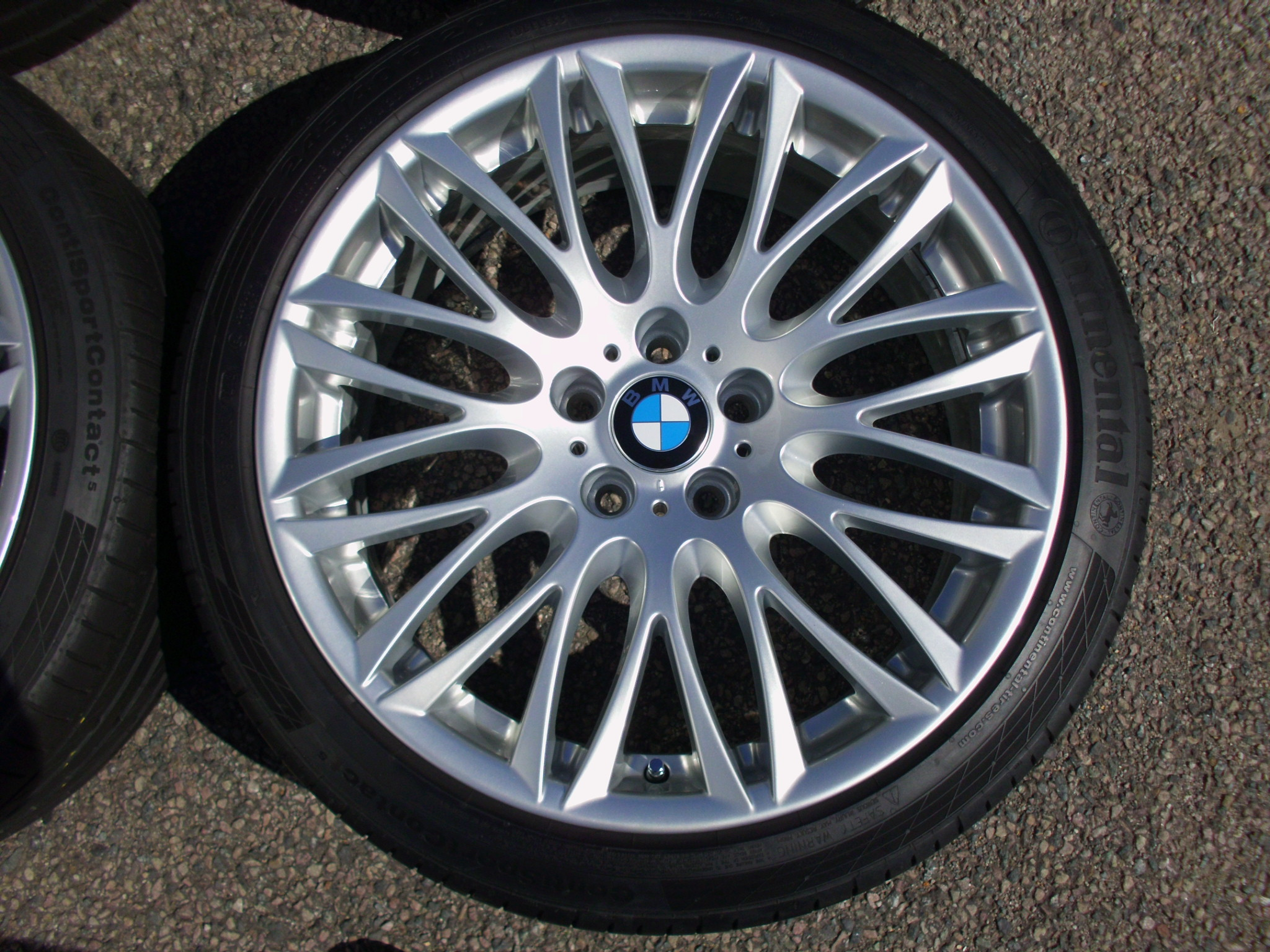 "USED 20"" GENUINE STYLE 149 E65 CROSS SPOKE ALLOYS,WIDE 10"" REAR,FULLY REFURBED INC CONTINENTAL TYRES"