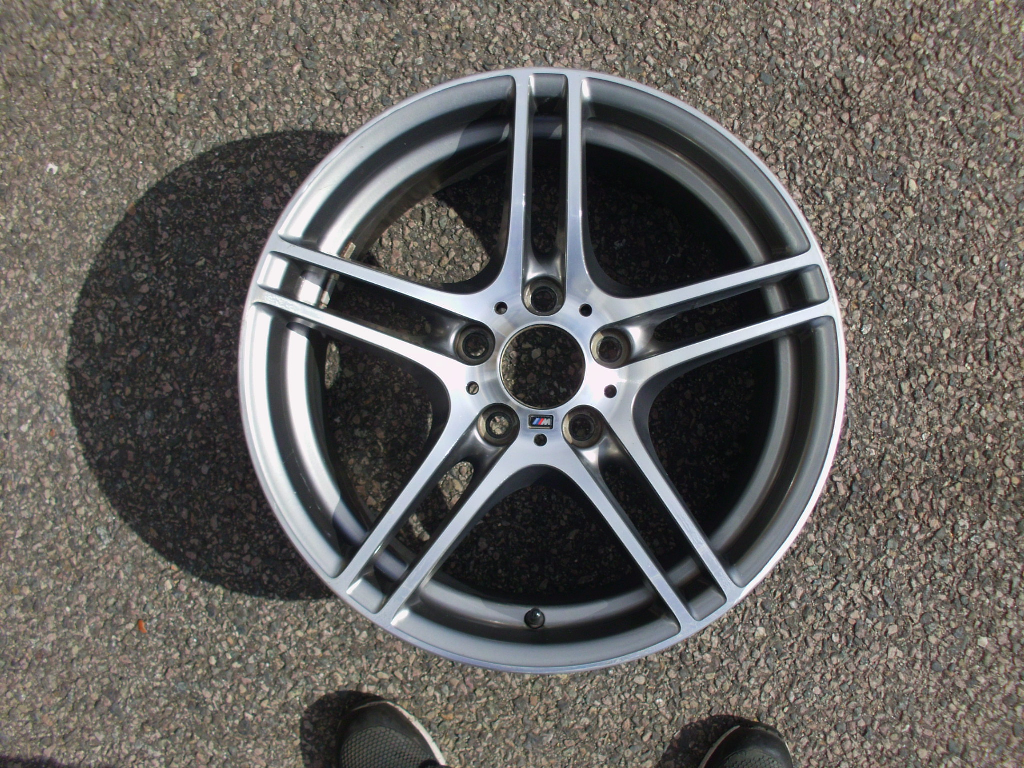 "USED SINGLE 18"" GENUINE BMW E82 1 SERIES STYLE 313M SPORT REAR ALLOY WHEEL, GOOD CONDITION"