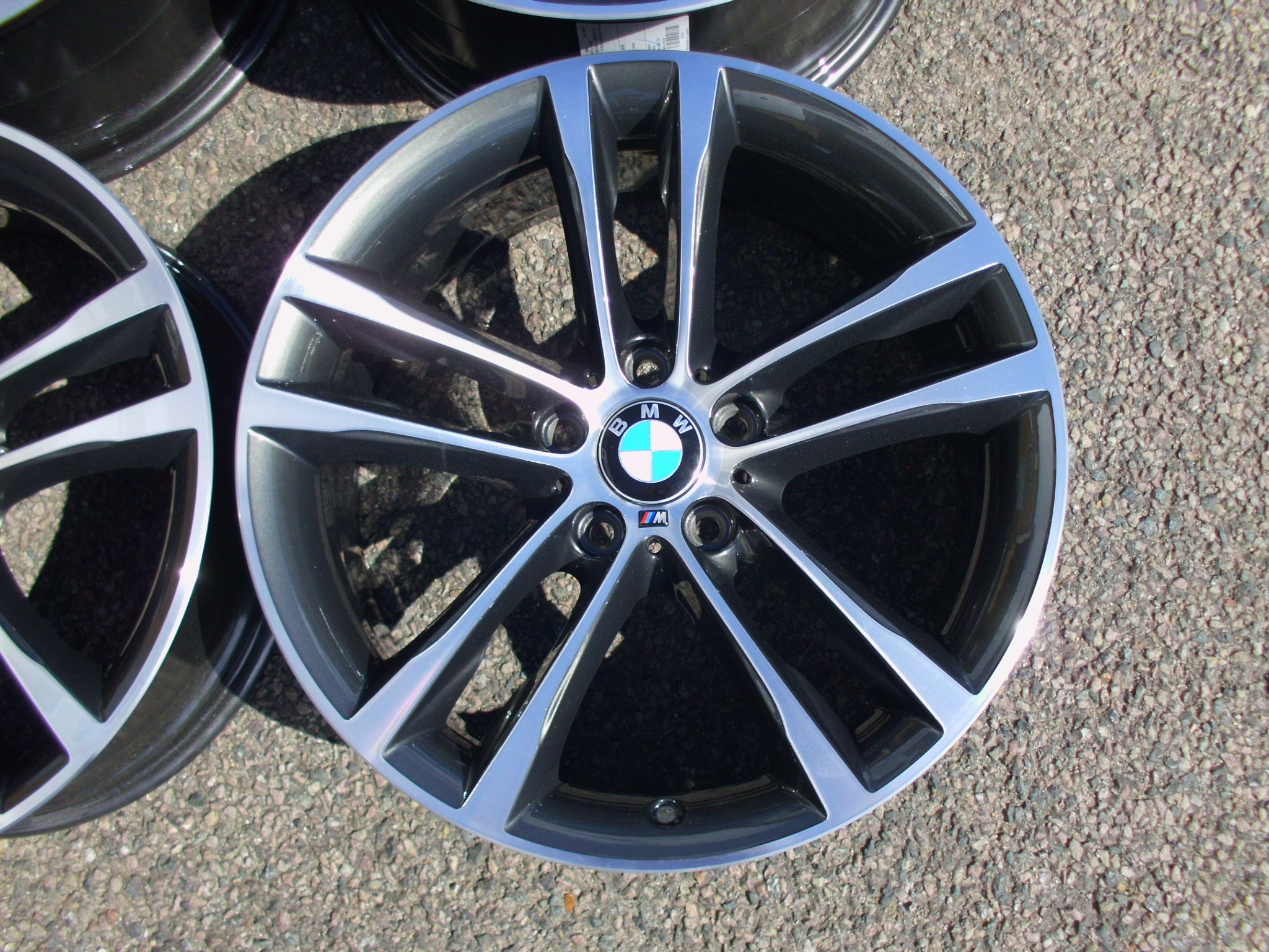 "USED 19"" GENUINE BMW STYLE 598 F34 GT M SPORT DOUBLE SPOKE ALLOY WHEELS,WIDE REAR, FULLY REFURBED"