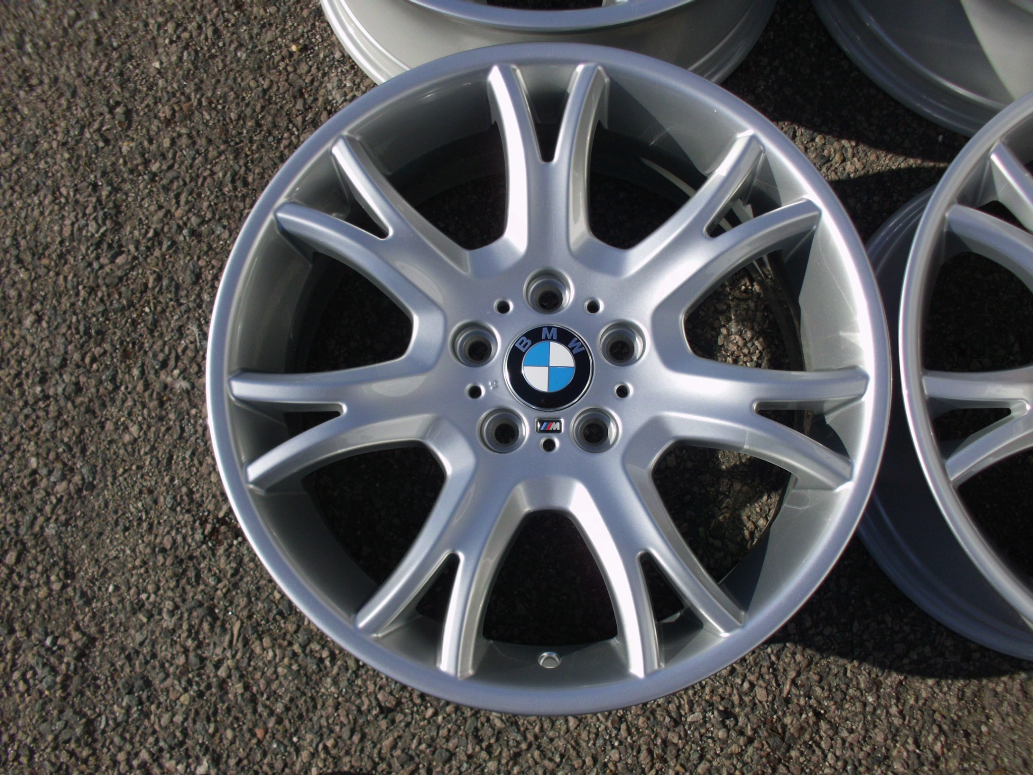 "USED 19"" GENUINE BMW STYLE 191 M SPORT Y SPOKE ALLOY WHEELS, WIDE REAR,FULLY REFURBED"