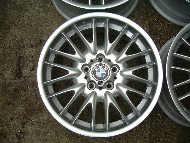 "USED 18"" GENUINE STYLE 72 E46 MV SPORT ALLOY WHEELS, FULLY REFURBED, WIDE REAR"