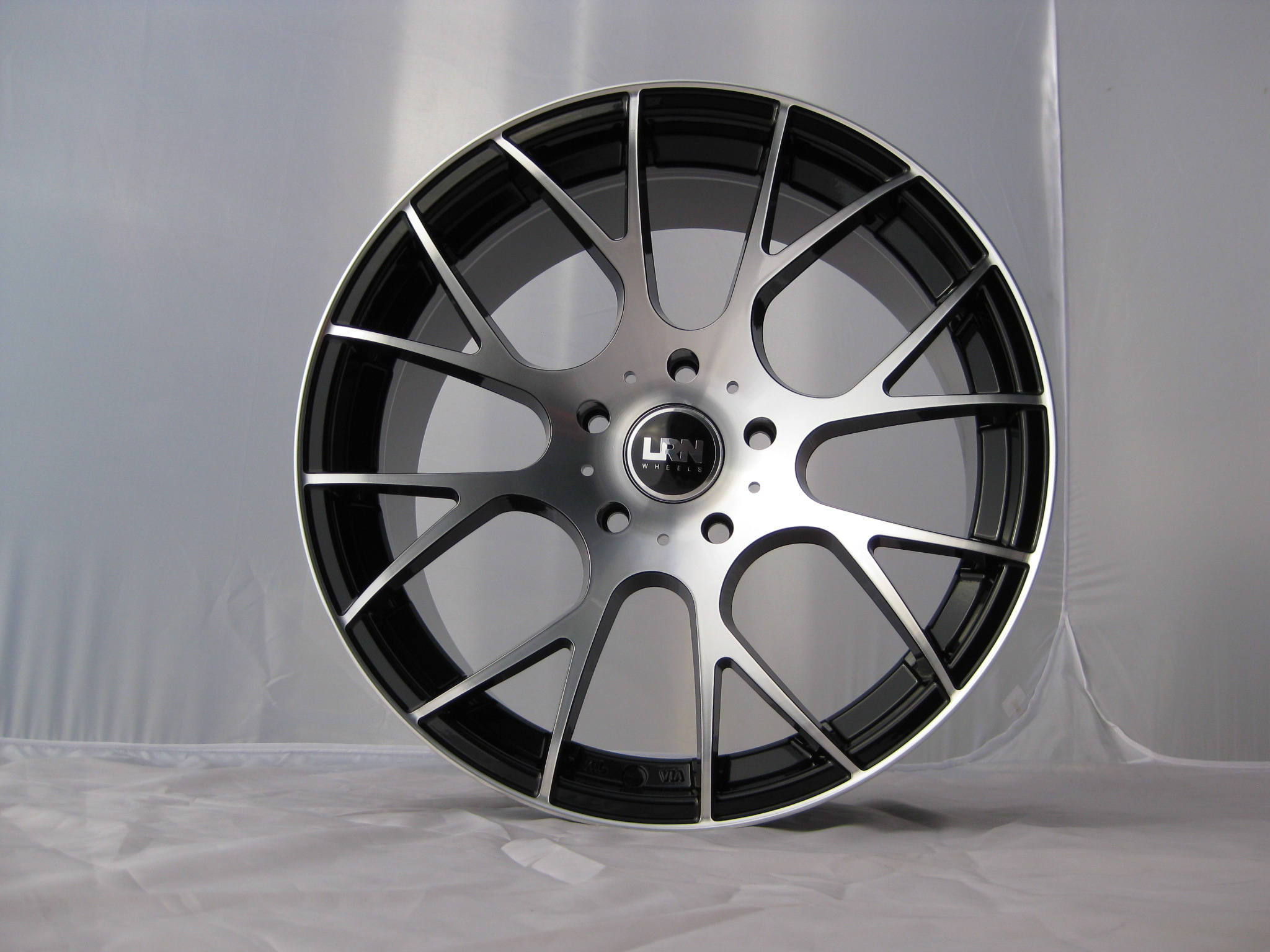"NEW 18"" LRN CYCLONE ALLOYS IN BLACK/POLISHED, DEEP 9"" CONCAVE REAR, MUST BE SEEN!!"