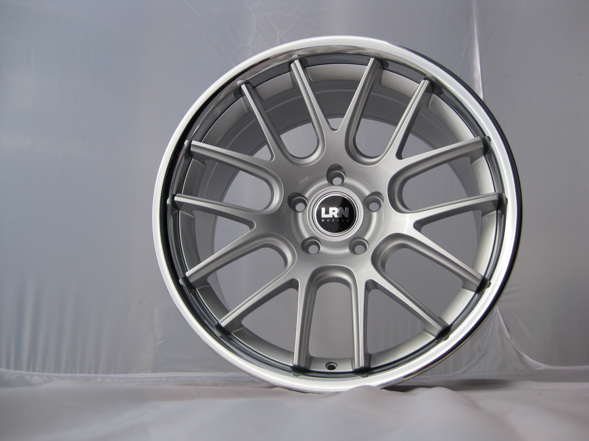 "NEW 19"" LRN VECTOR ALLOY WHEELS IN SILVER WITH INOX DISH, MASSIVE 10"" WIDE REAR'S WITH DEEP CONCAVE"