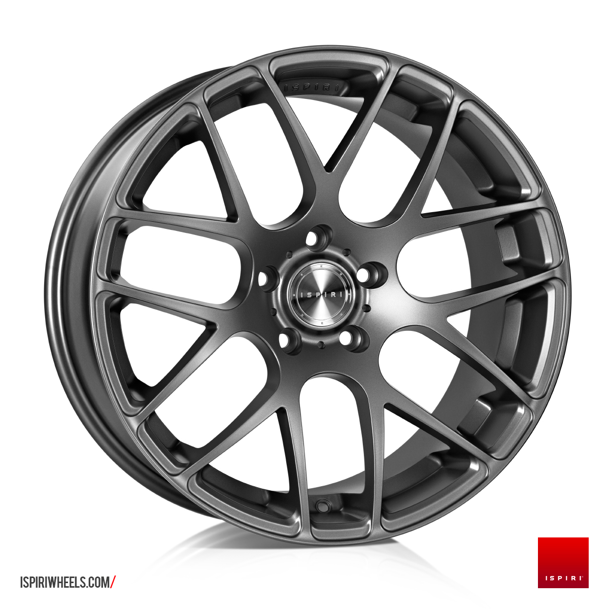 "NEW 19"" ISPIRI ISR1 CROSS SPOKE ALLOYS IN MATT GRAPHITE"