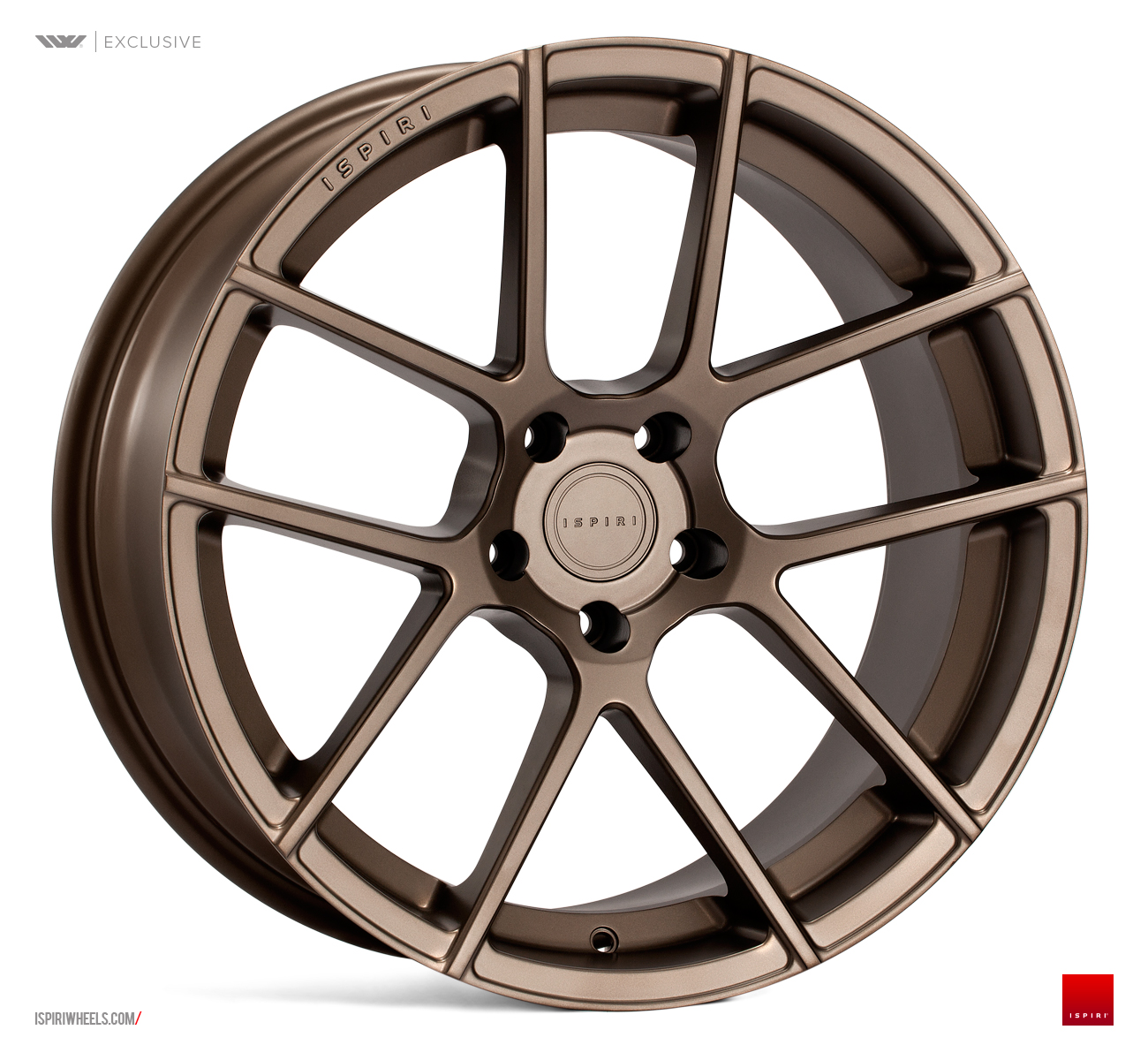 "NEW 20"" ISPIRI ISR6 IN MATT CARBON BRONZE WITH DEEPER CONCAVE 10"" REARS"