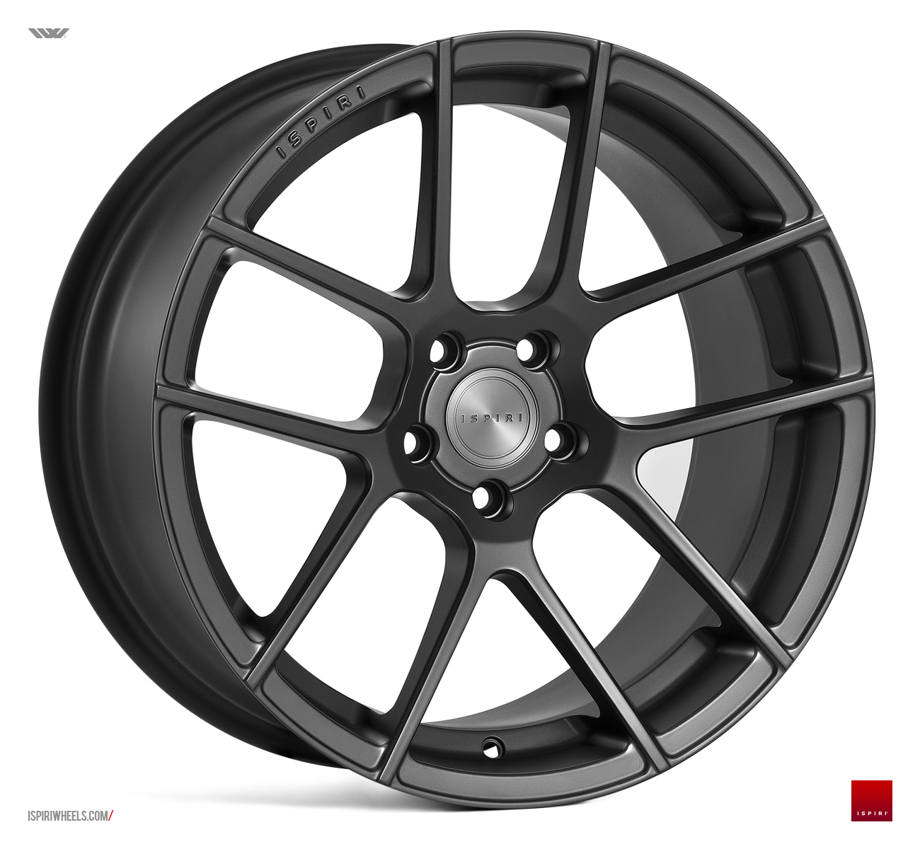 "NEW 20"" ISPIRI ISR6 IN SATIN GRAPHITE WITH DEEPER CONCAVE 10"" REARS"