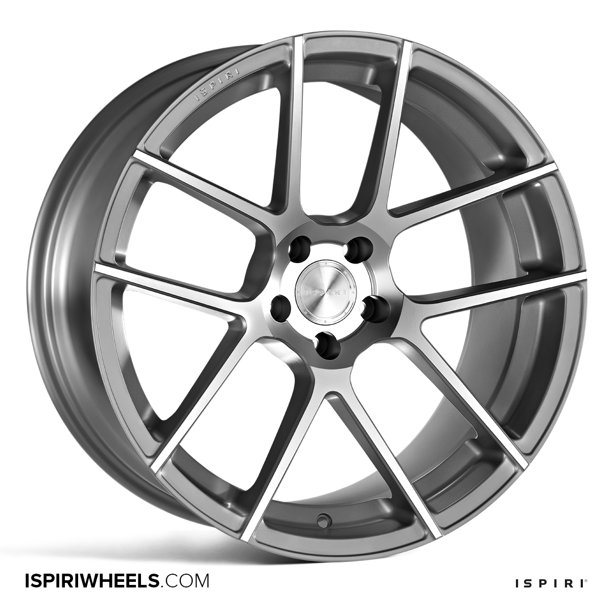 "NEW 20"" ISPIRI ISR6 ALLOY WHEELS IN SATIN SILVER/SATIN POL WITH DEEPER CONCAVE 10"" REARS"