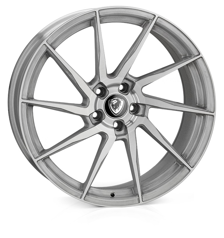 "NEW 20"" CADES KRATOS ALLOYS IN BRUSHED SILVER, MASSIVE 10.5"" REAR"
